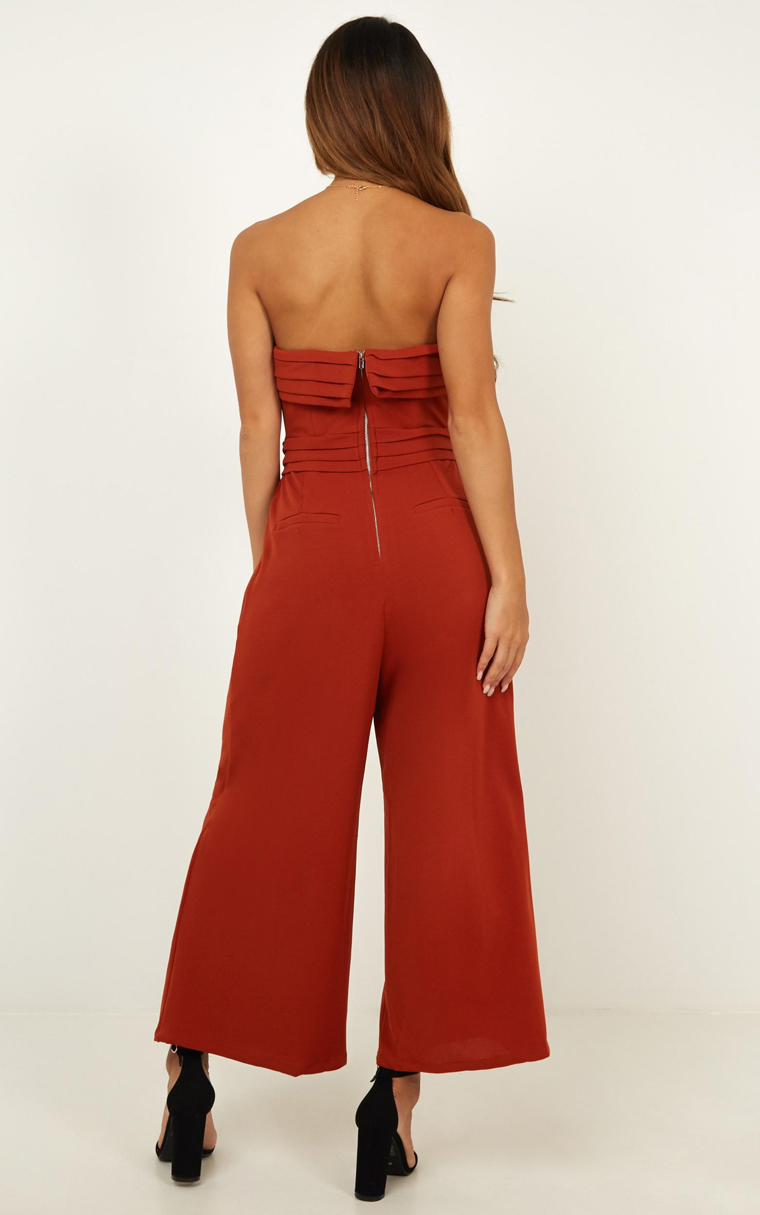 Up Ahead jumpsuit in rust - 14 (XL), Rust, hi-res image number null