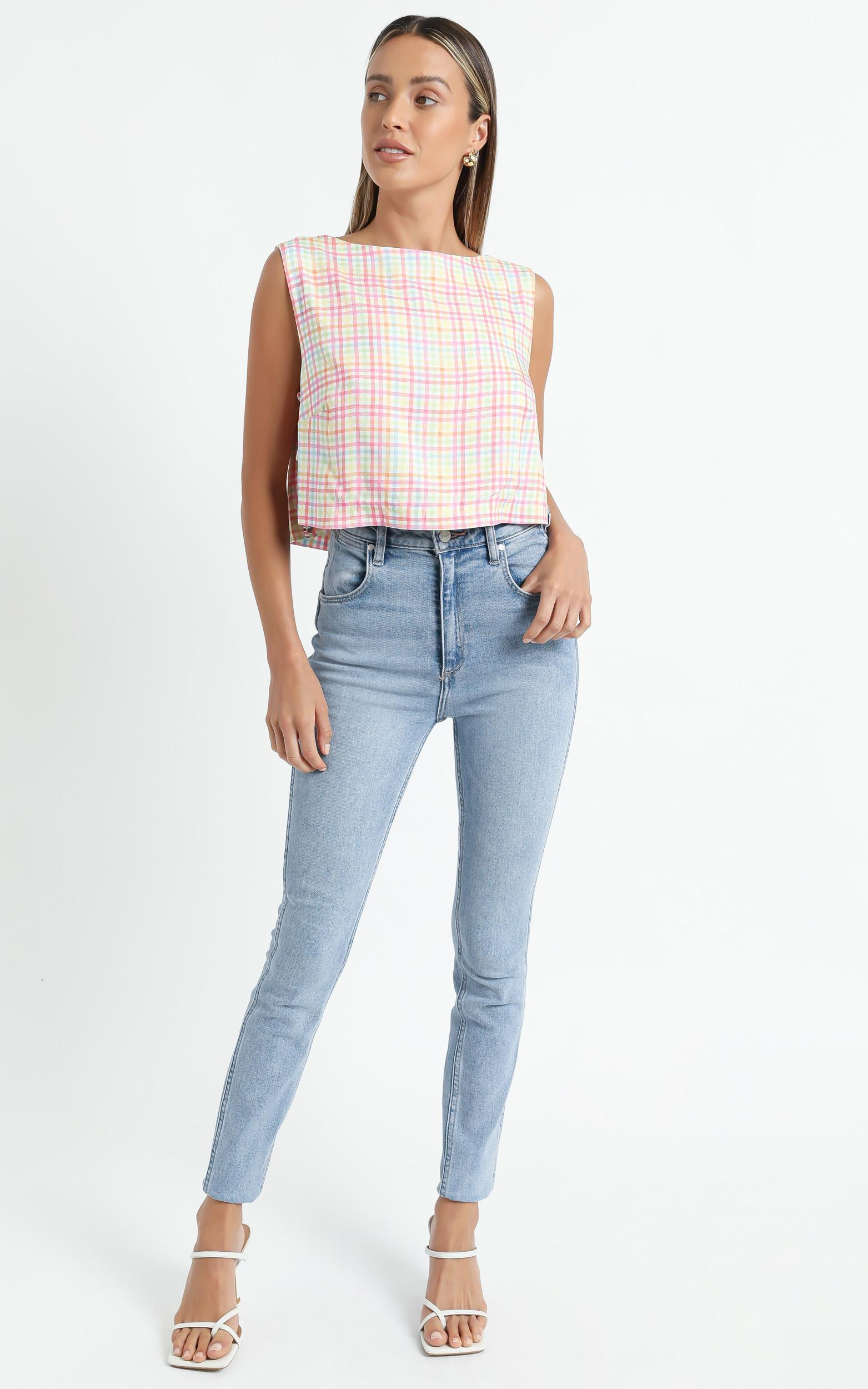 Mavra Top in Rainbow Check - 6 (XS), MLT2, hi-res image number null