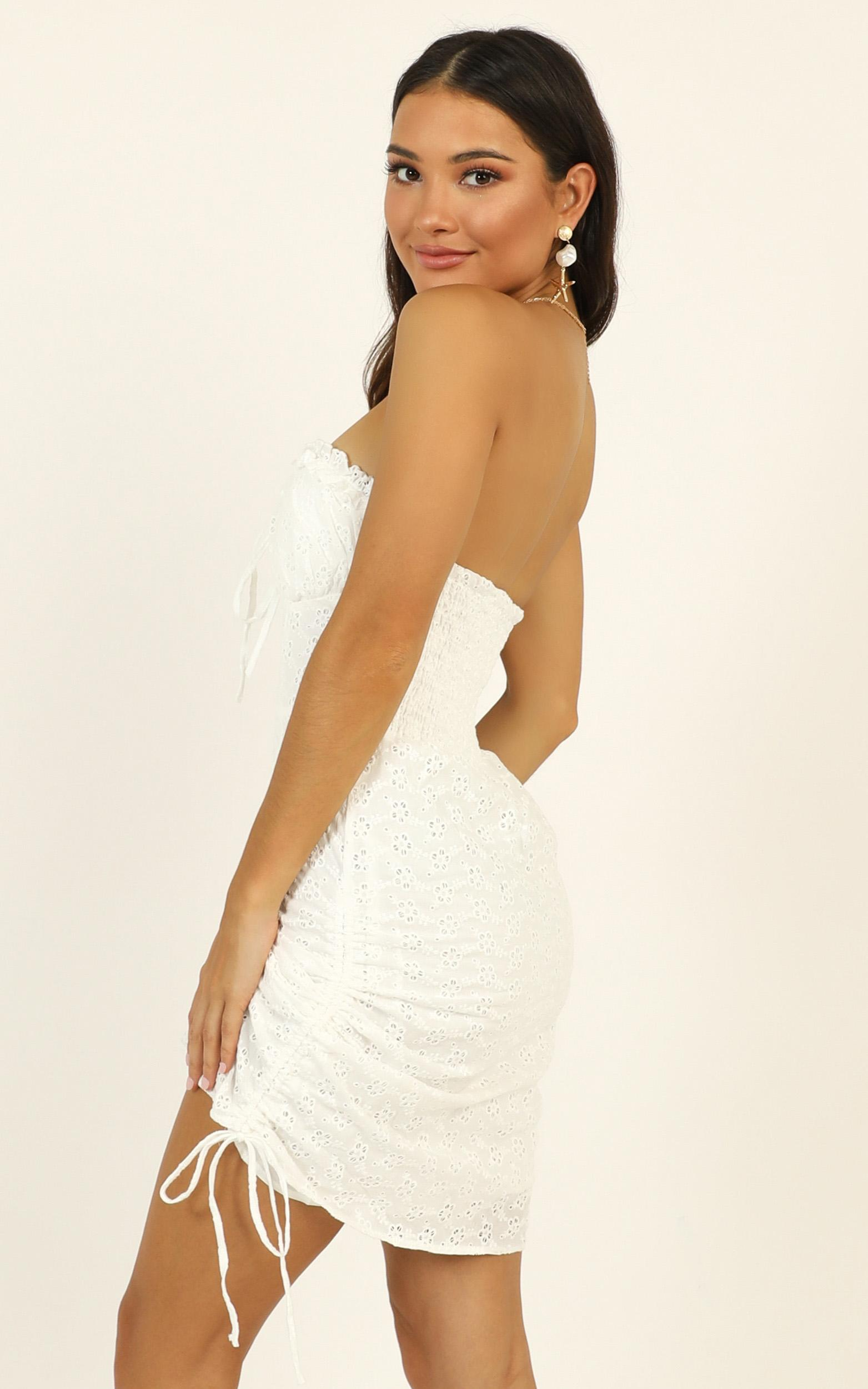 Take The Hint dress in white - 14 (XL), White, hi-res image number null