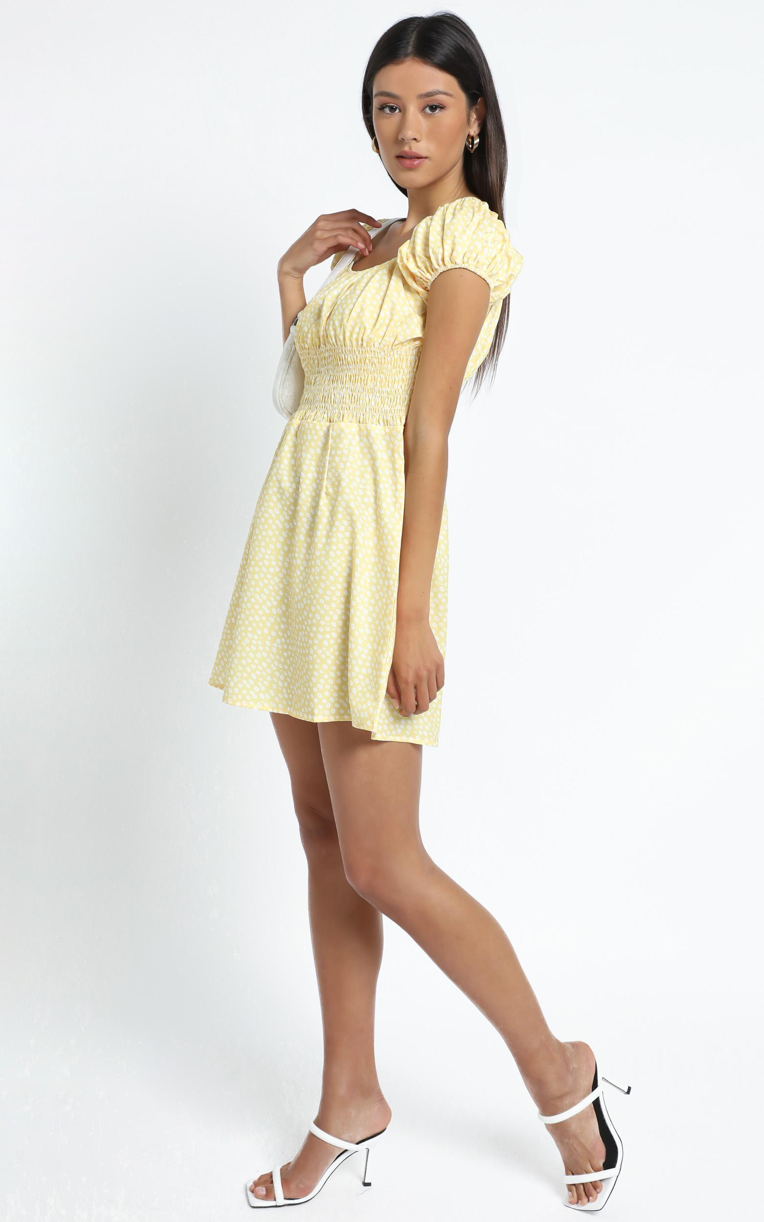 Hilary Dress in Yellow Floral - 12 (L), Yellow, hi-res image number null