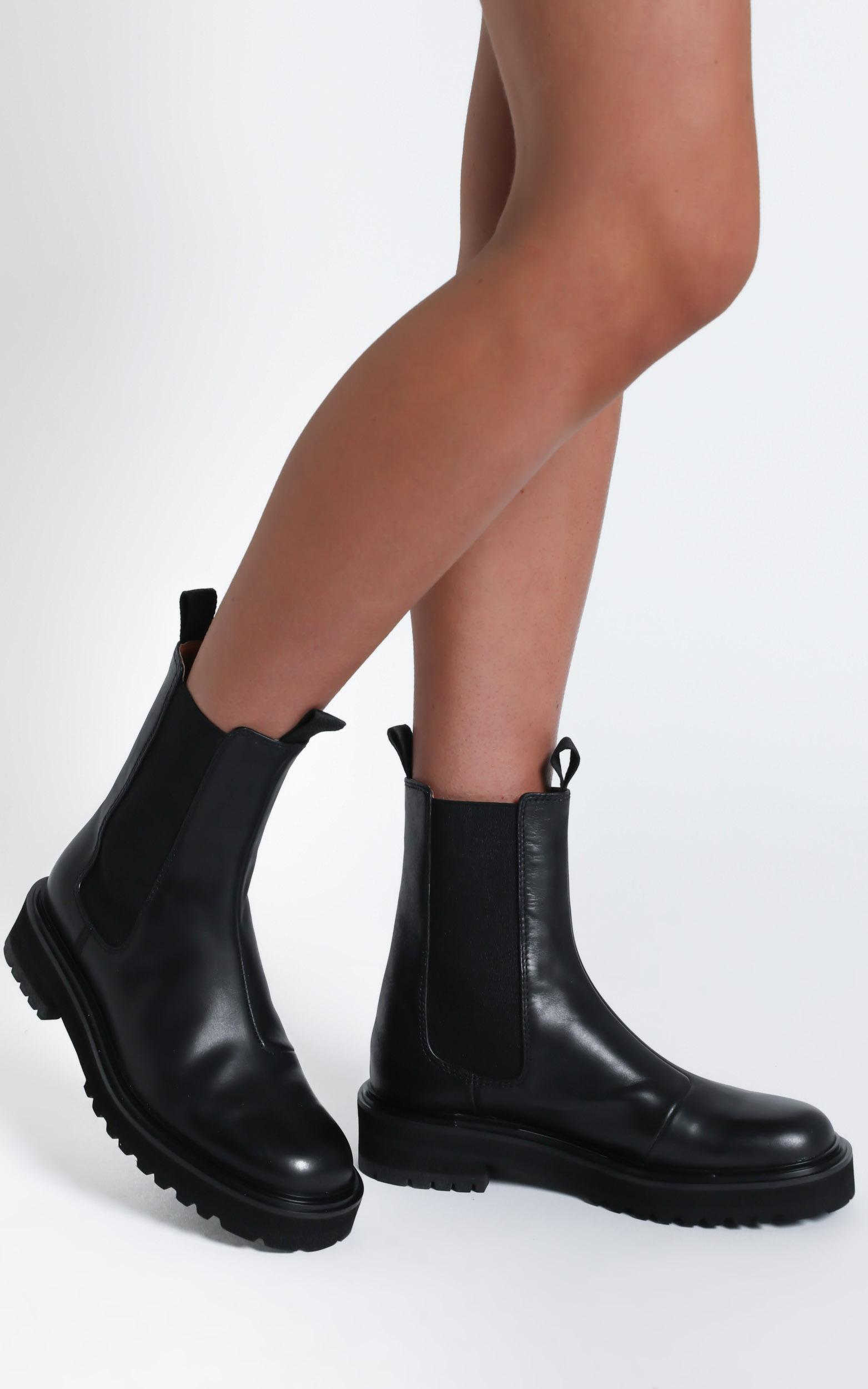 Alias Mae - Romi Boots in Black Burnished - 5.5, BLK2, hi-res image number null