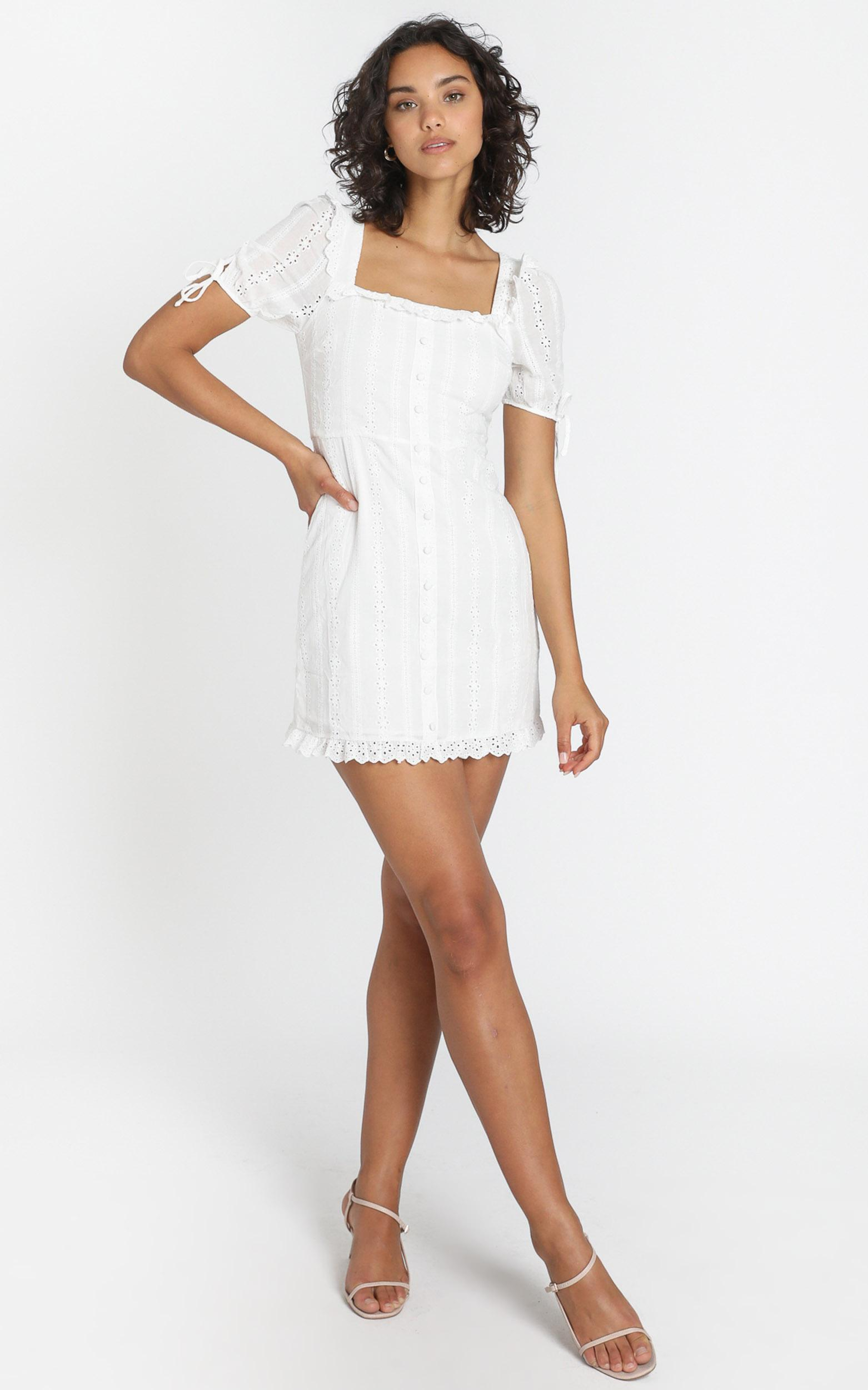 Tegan Dress in White - 6 (XS), White, hi-res image number null