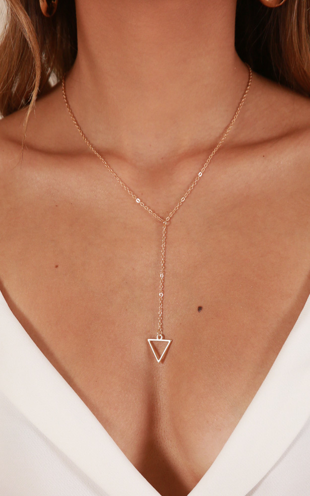 Something On Your Mind necklace in gold, , hi-res image number null