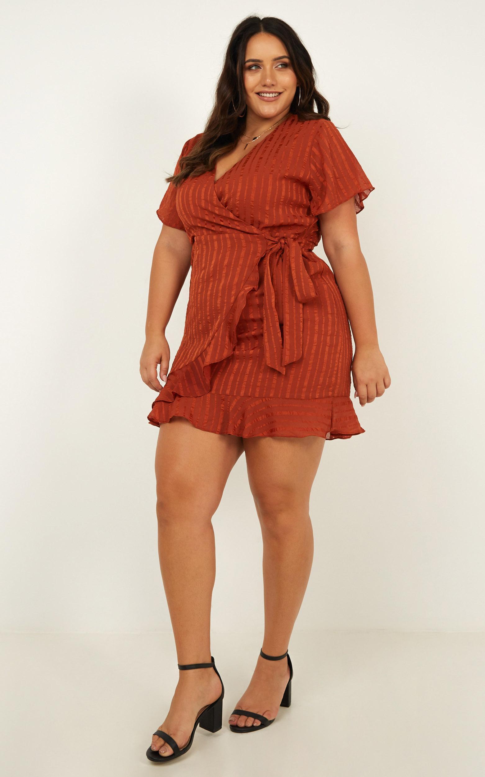 Chic alternative Dress in rust - 12 (L), Rust, hi-res image number null