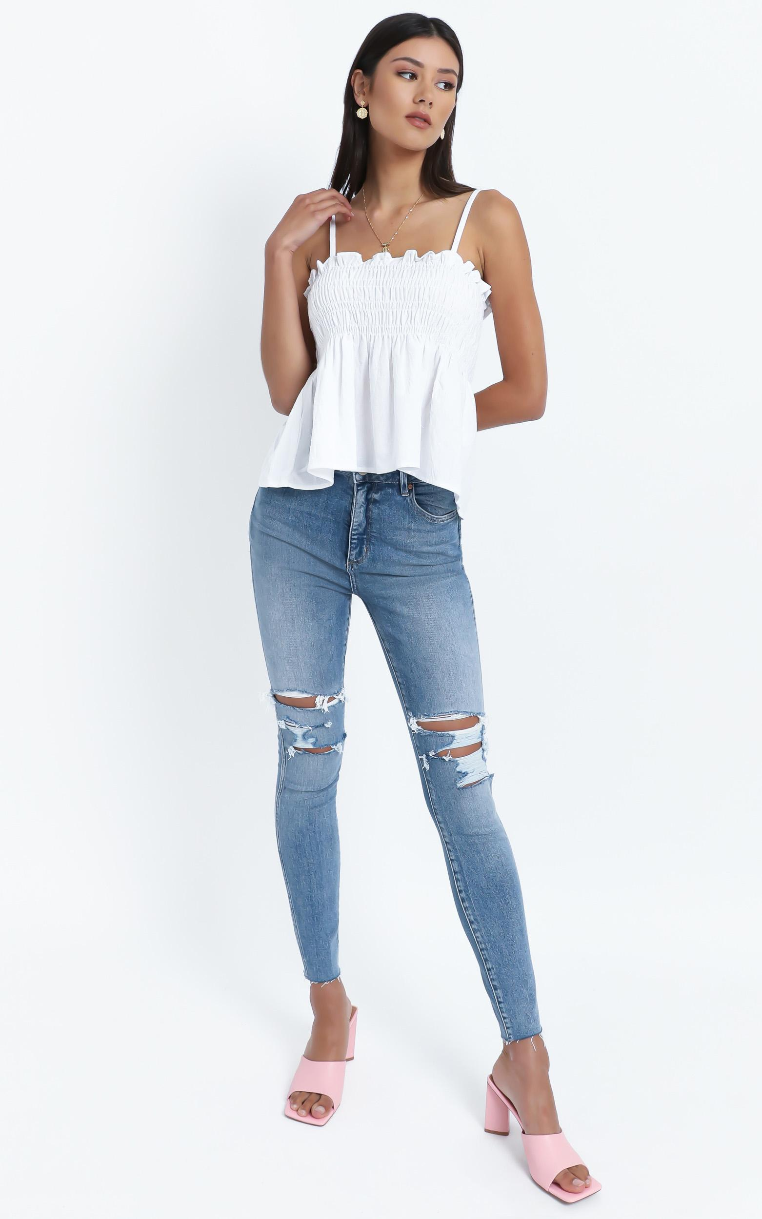 Lovers Top in White - 12 (L), White, hi-res image number null