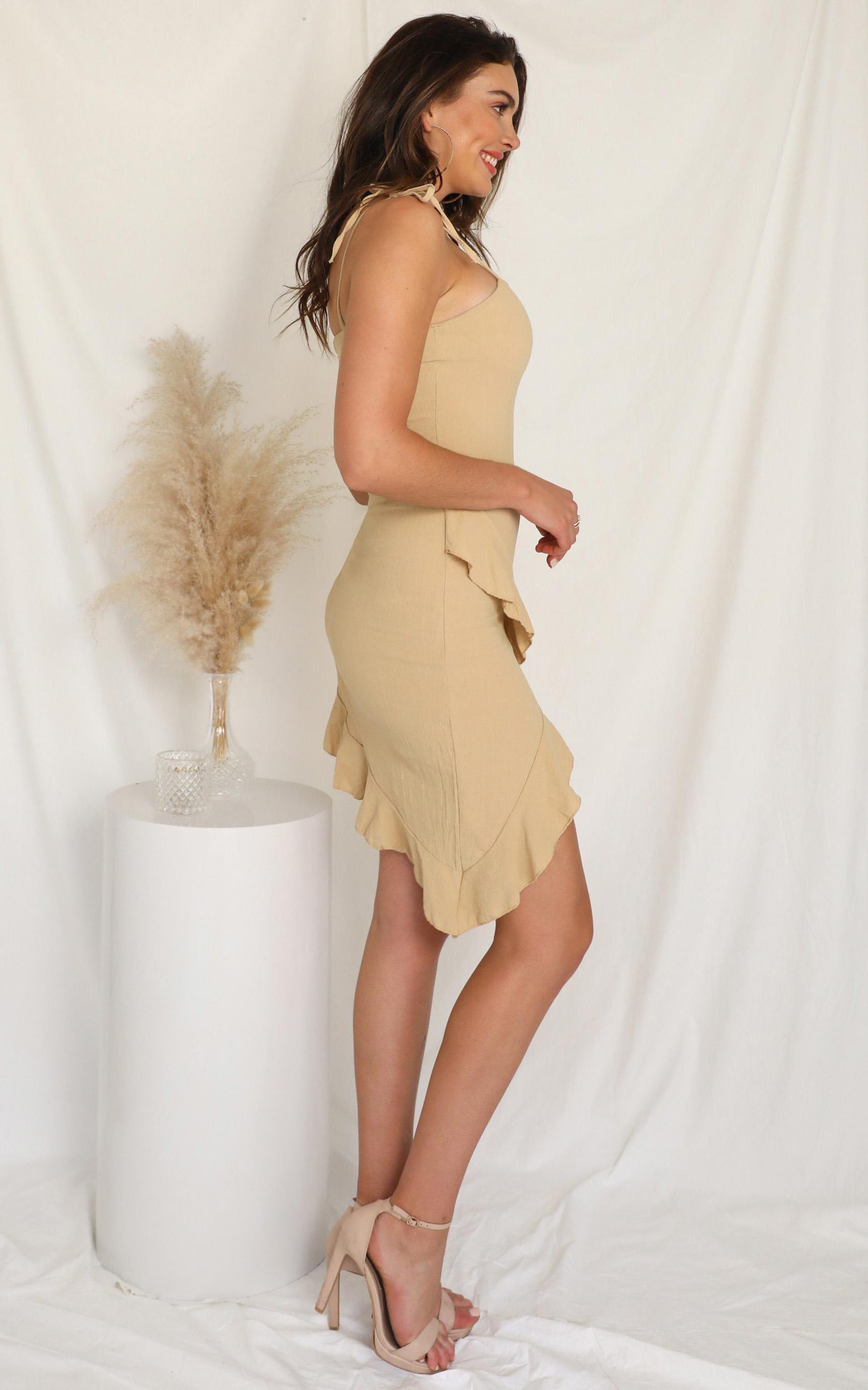 Not An Option dress in beige - 12 (L), Beige, hi-res image number null