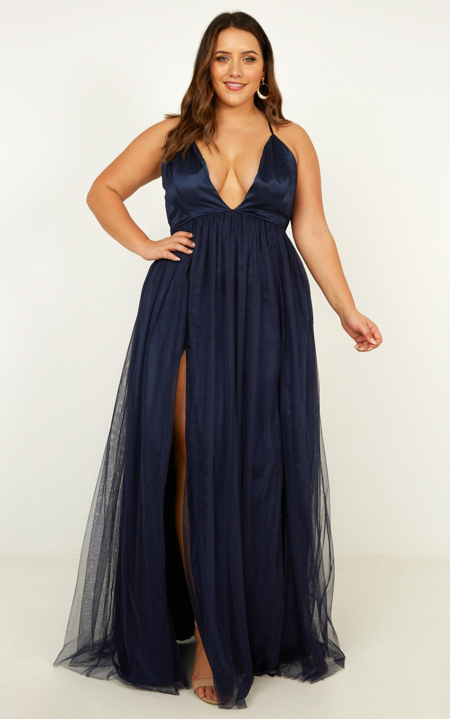 Make It Right Dress In navy - 20 (XXXXL), Navy, hi-res image number null