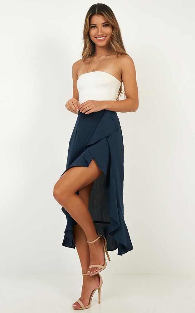 There She Goes Again skirt in navy - 14 (XL), Navy, hi-res image number null