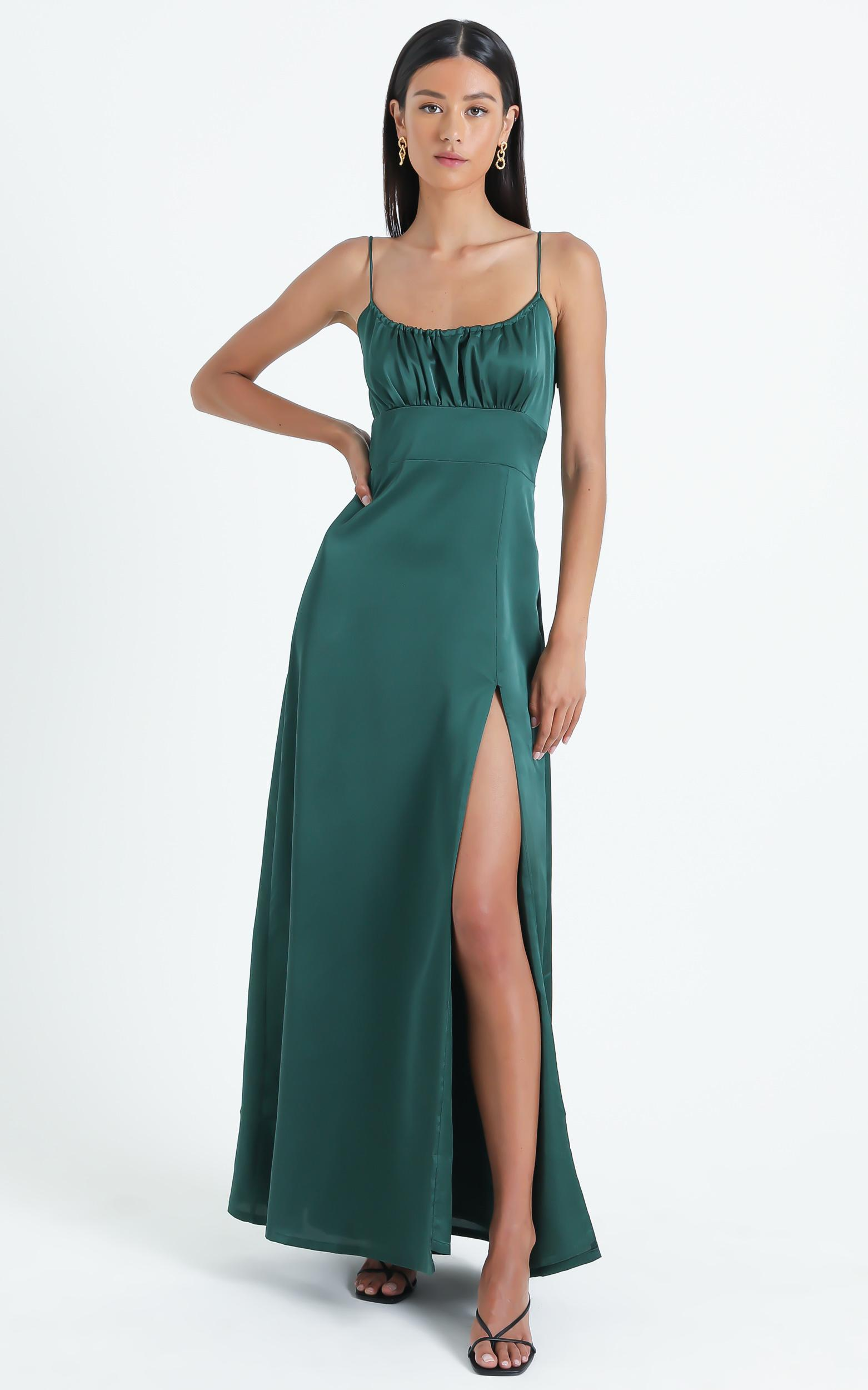 Simply Want You Dress in Emerald - 6 (XS), GRN7, hi-res image number null