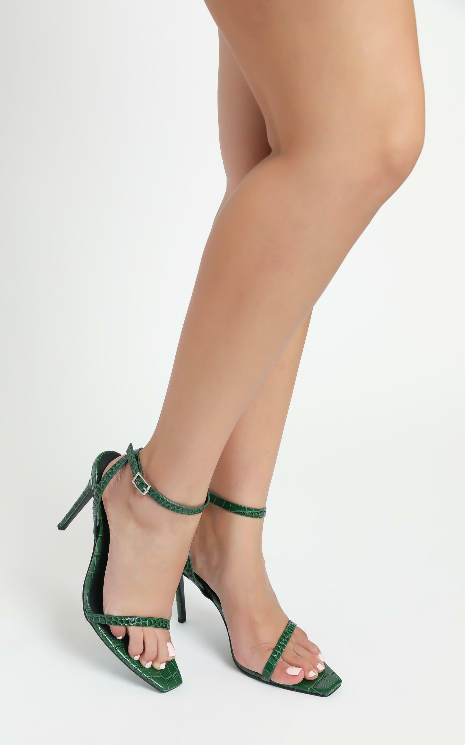 Alias Mae - Isaac Heels in Green Croc - 5.5, Green, hi-res image number null