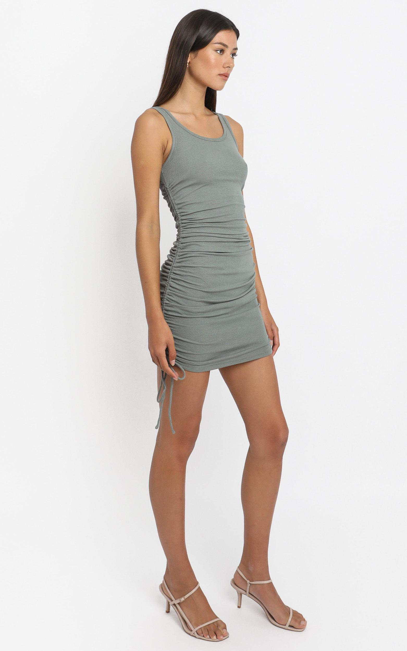 Kailey Dress in Khaki - 6 (XS), Khaki, hi-res image number null