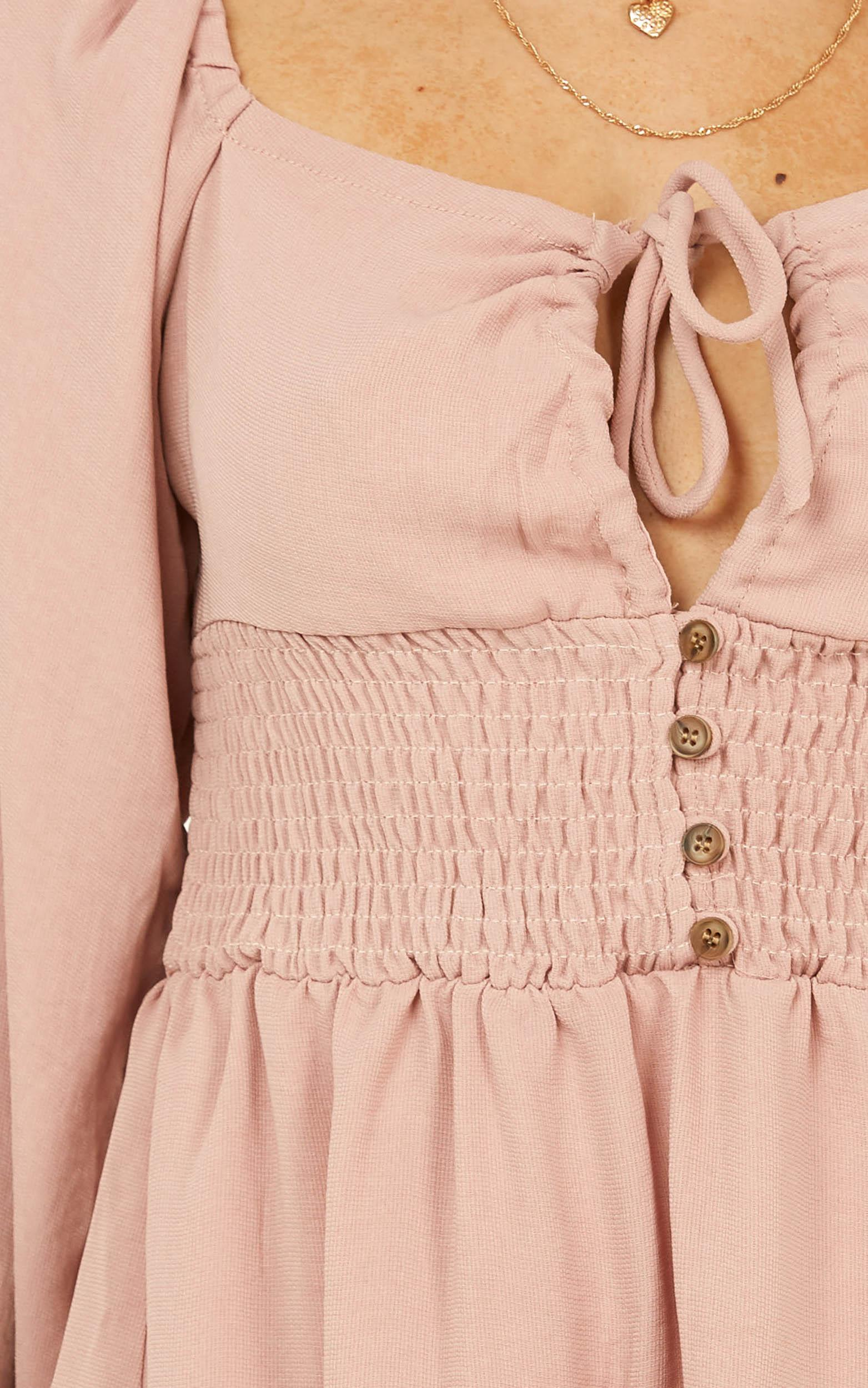 New Roads dress in blush - 12 (L), Blush, hi-res image number null