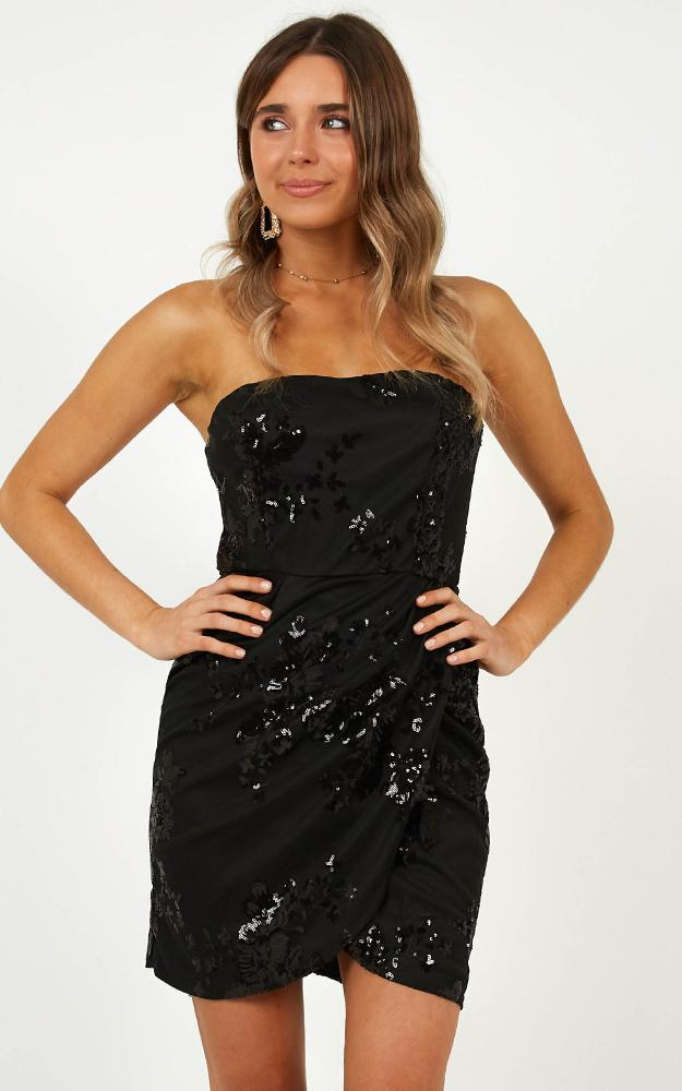 Dancing All Night Dress in black sequin - 14 (XL), Black, hi-res image number null