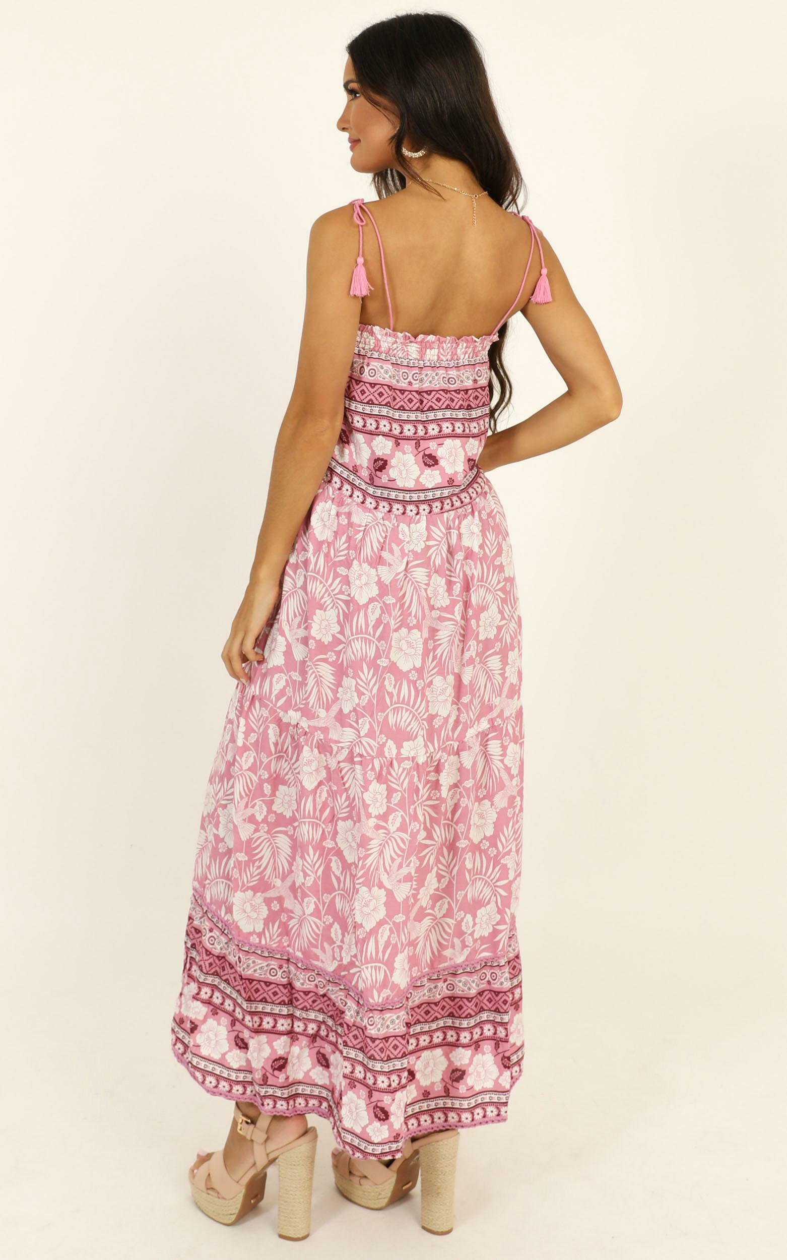 Dance Off Dress in pink print - 8 (S), Pink, hi-res image number null