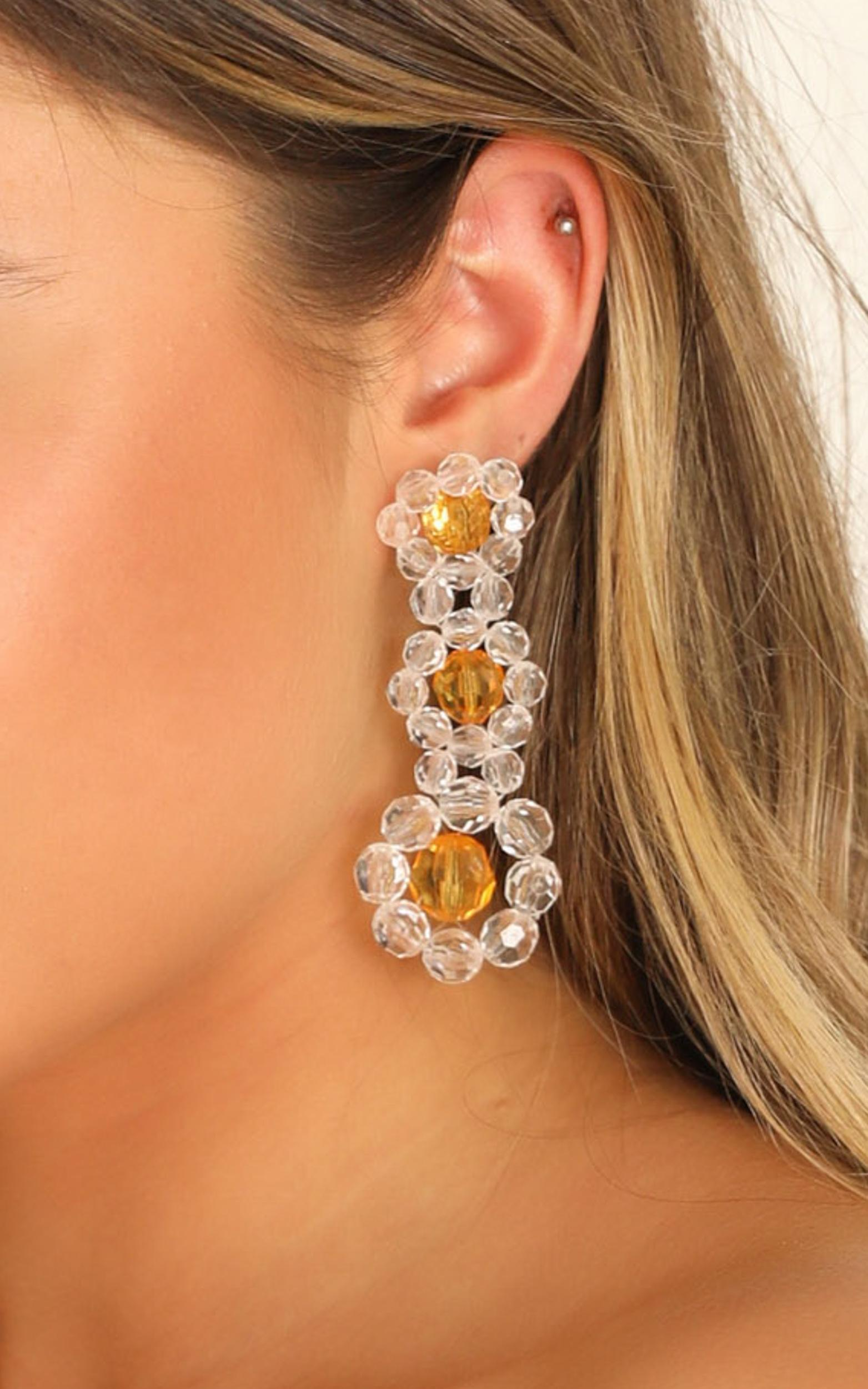 What You Need Earrings In Yellow, , hi-res image number null