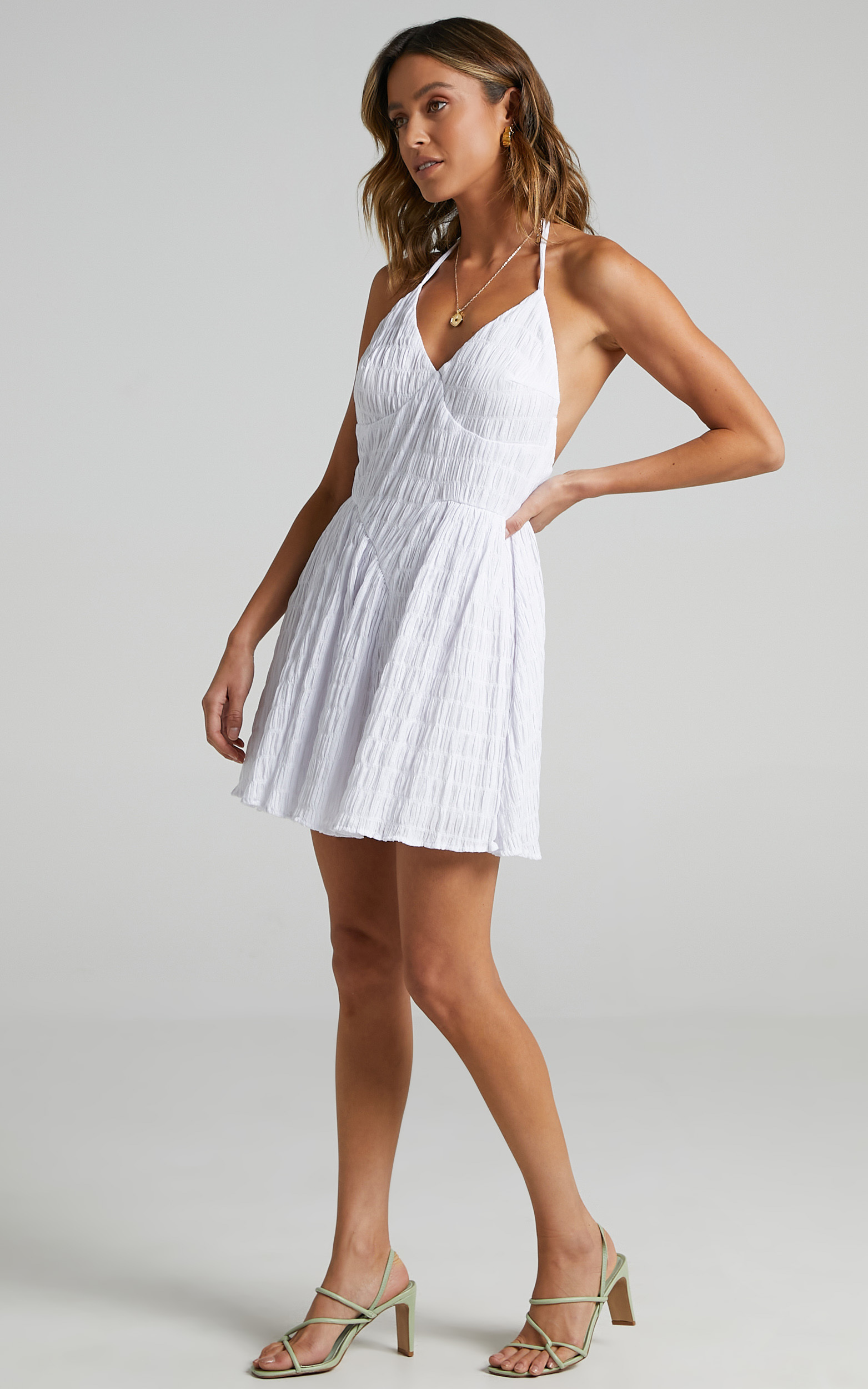 Mystic Dress in White - 16 (XXL), White, hi-res image number null