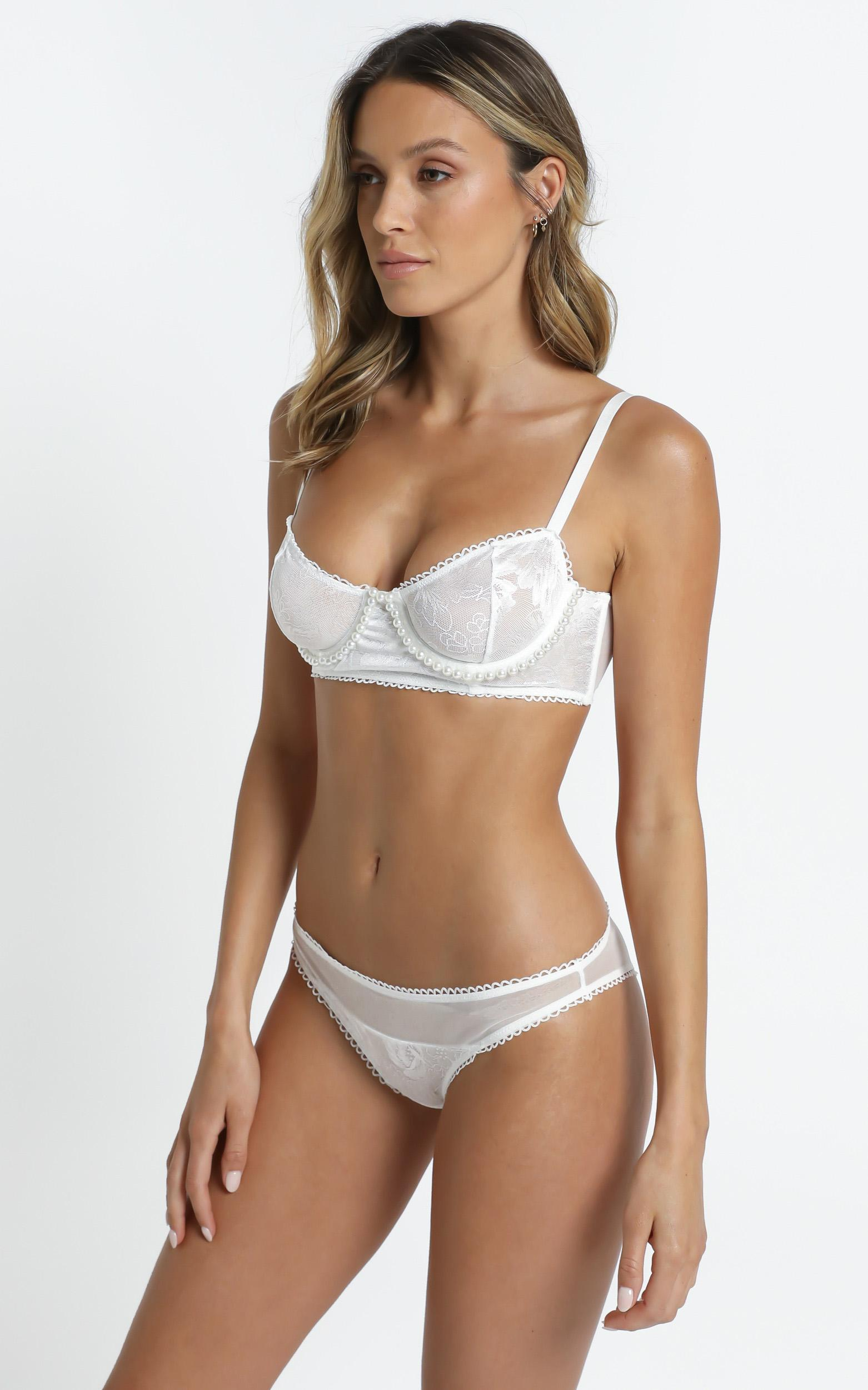 Kat The Label - Beatrice Brief in White - XS, White, hi-res image number null