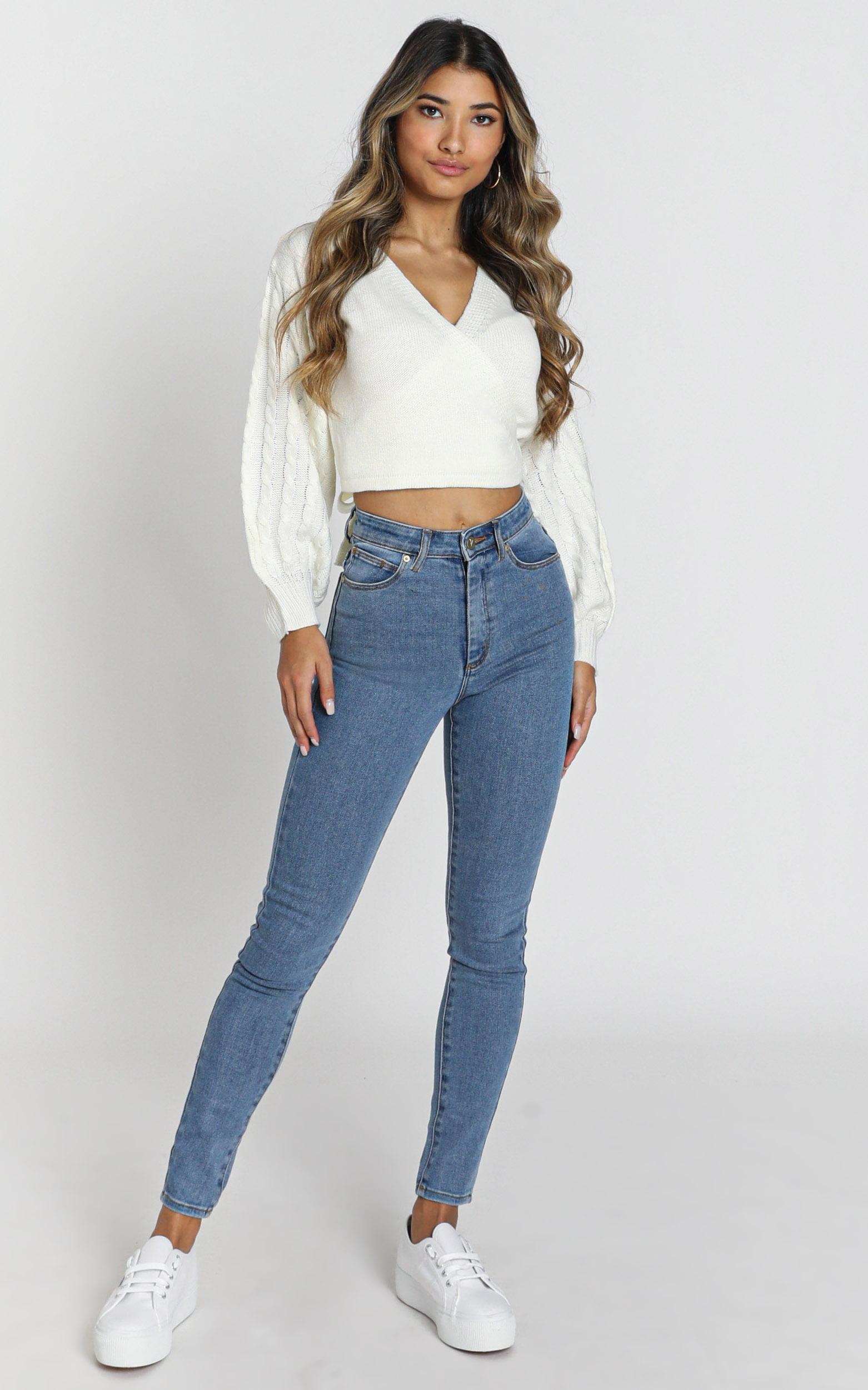 Abrand - A High Skinny Ankle Basher Jeans in la blues - 14 (XL), Blue, hi-res image number null