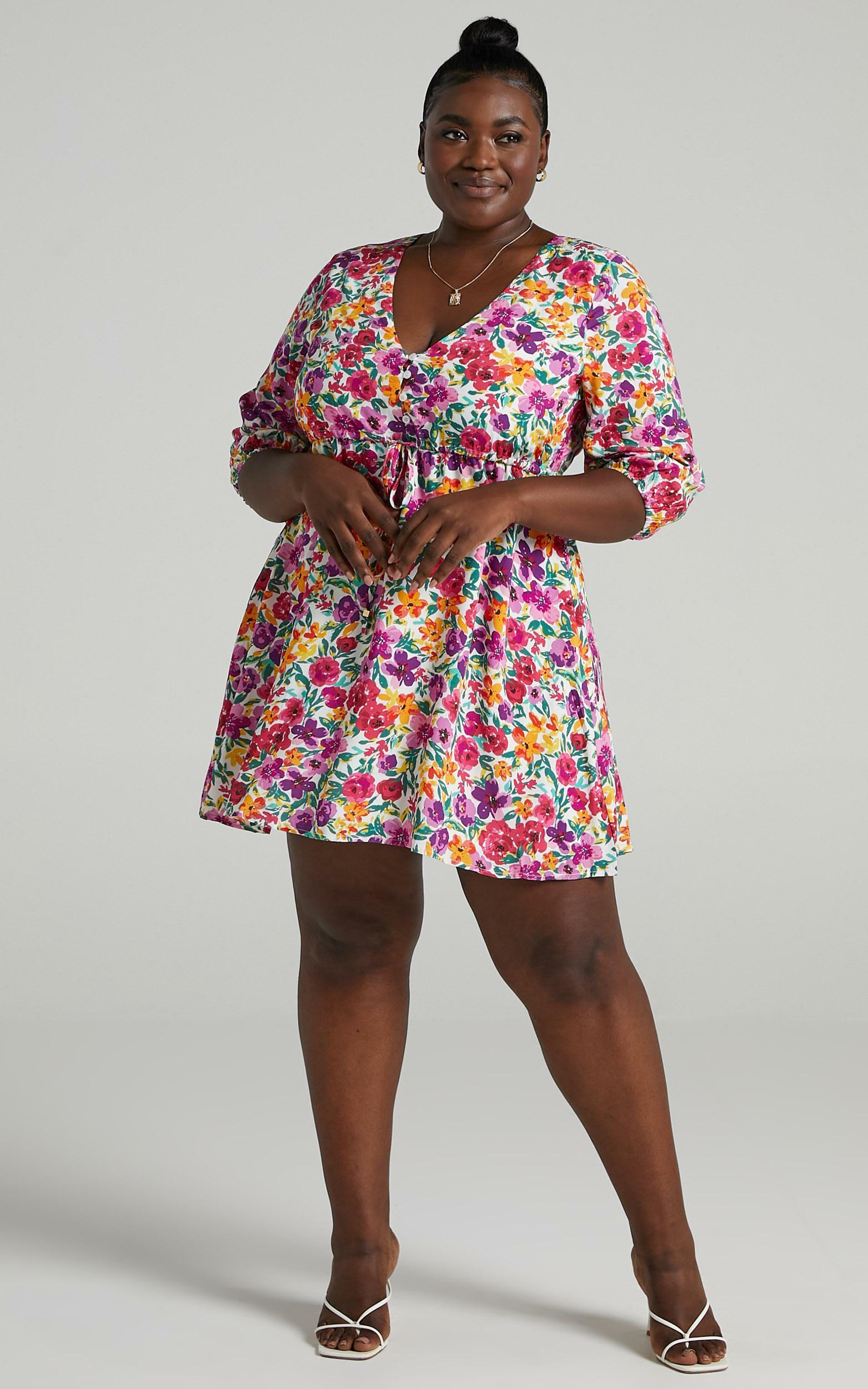 Lilliana Dress in Packed Floral - 6 (XS), Multi, hi-res image number null