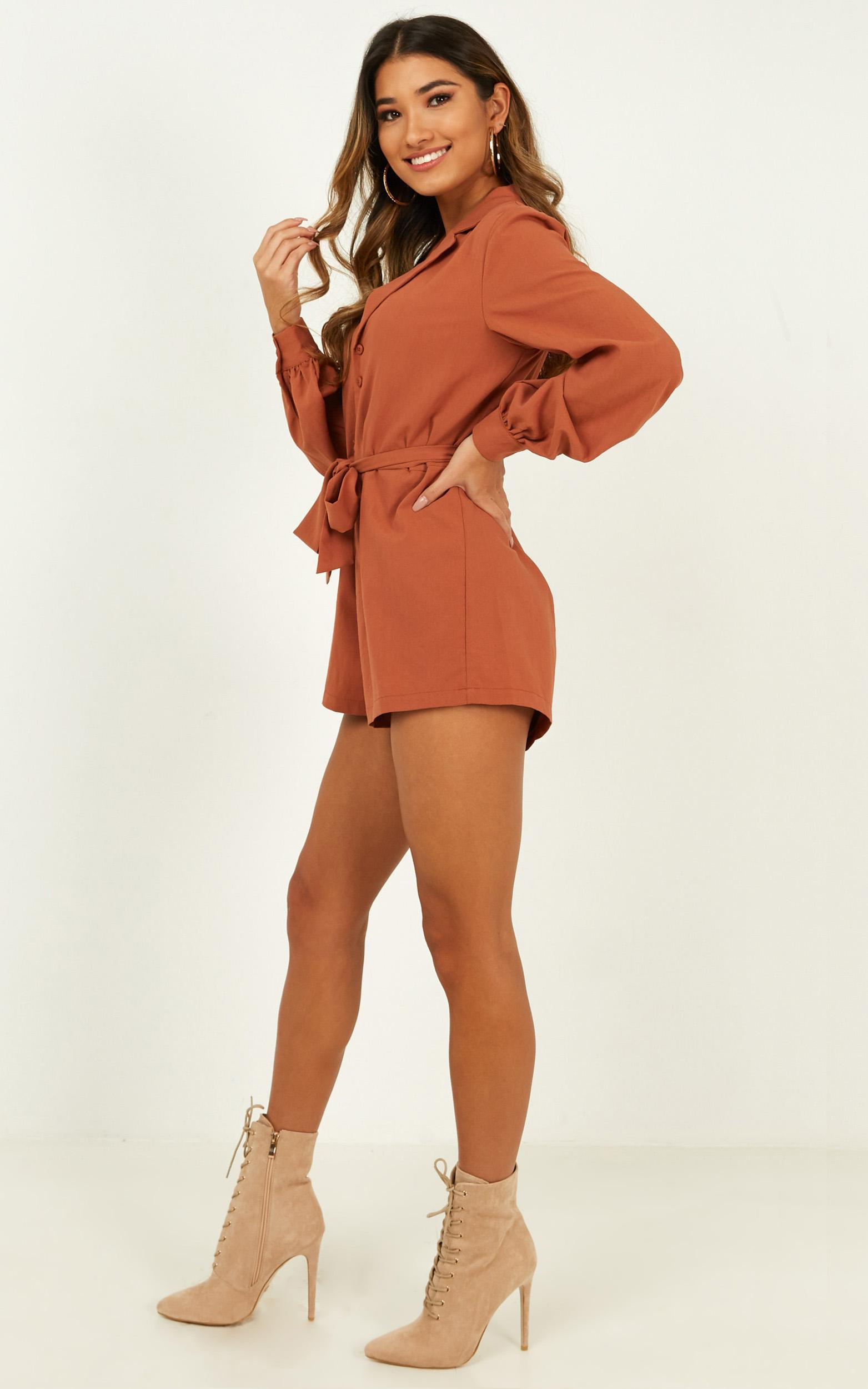 Leading Me Astray Playsuit in rust - 20 (XXXXL), Rust, hi-res image number null