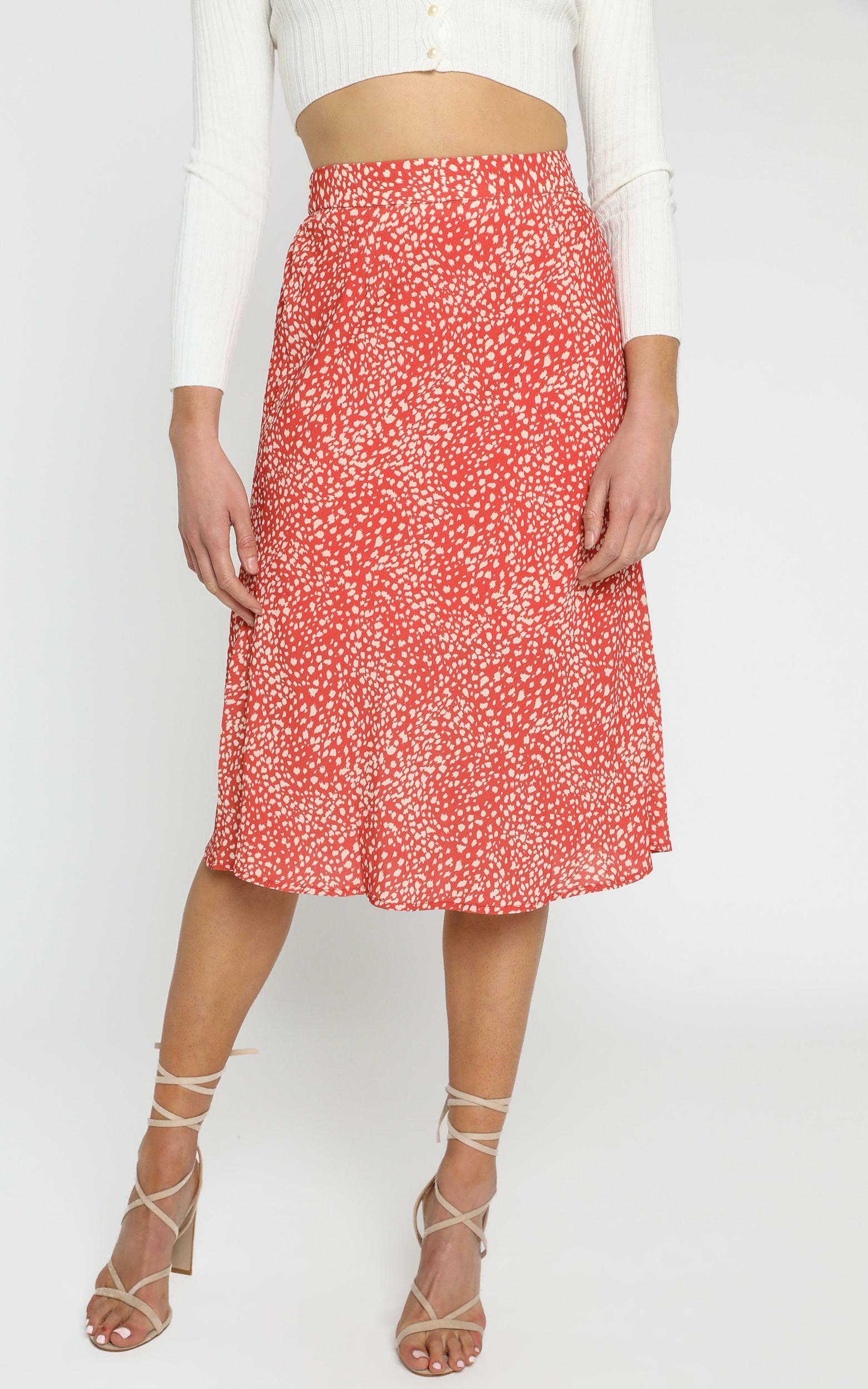 Alegra Skirt in Orange - 6 (XS), Orange, hi-res image number null