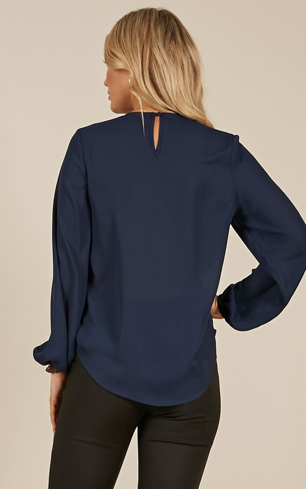 Cant Control Myself Top in Navy- 20 (XXXXL), Navy, hi-res image number null