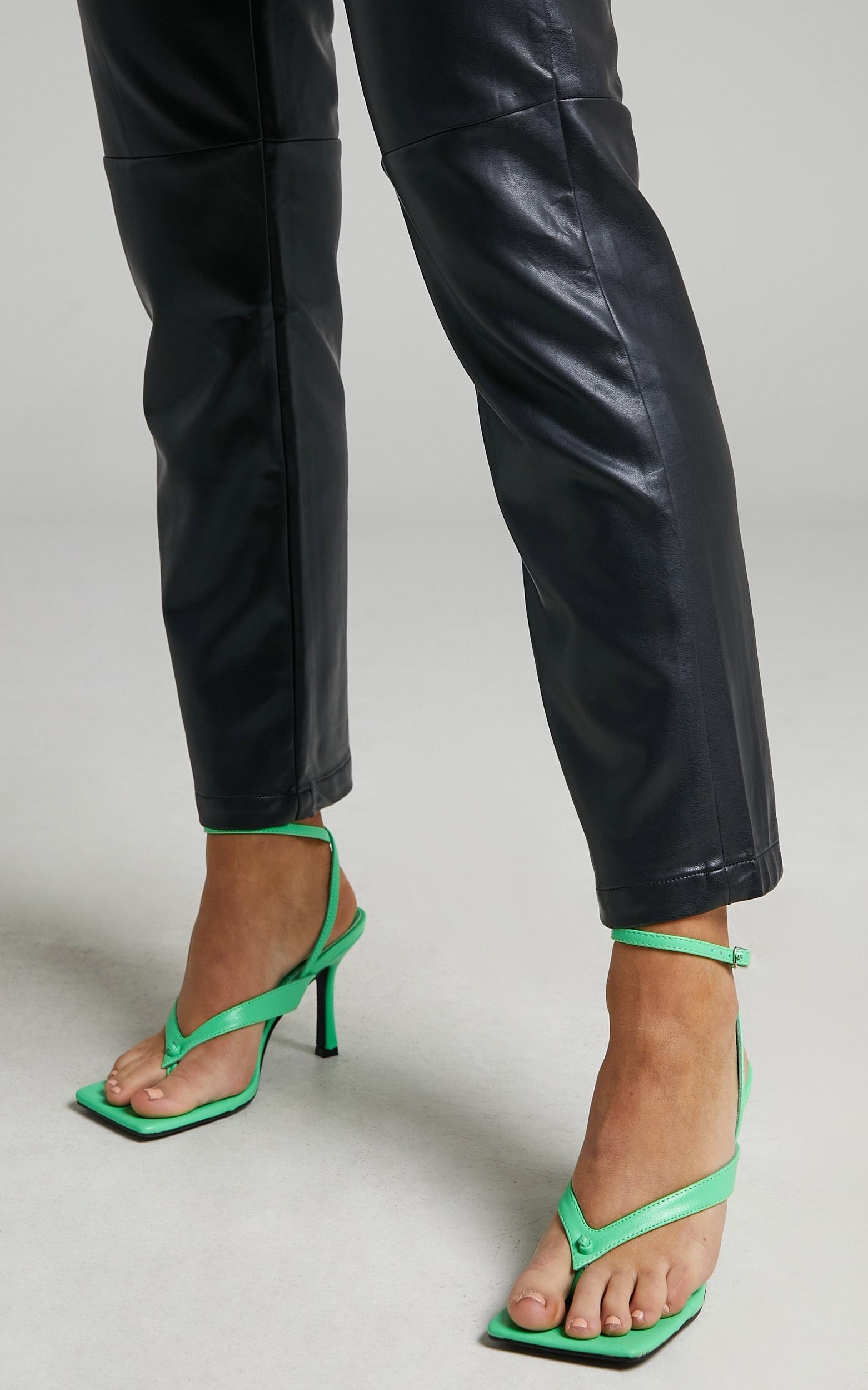 Public Desire - Flamingo Heels in Green PU - 05, GRN1, hi-res image number null