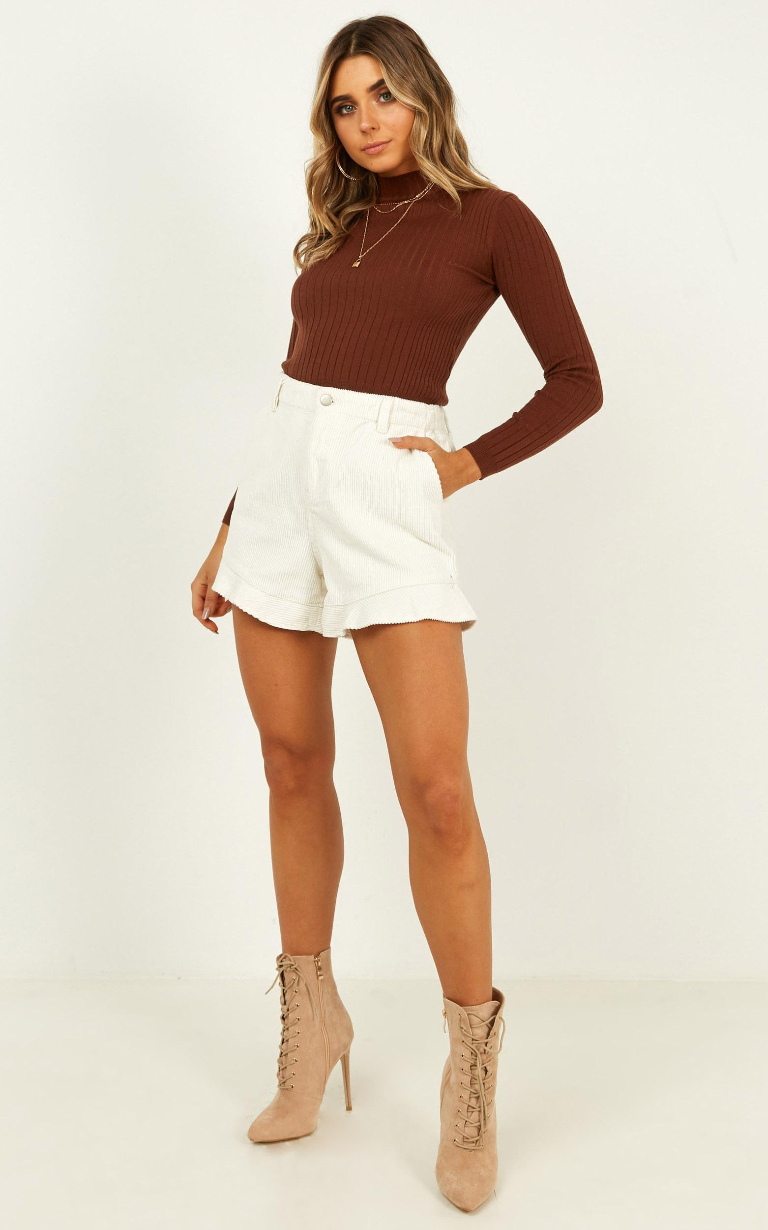 All That You Are Shorts In cream cord - 12 (L), Cream, hi-res image number null