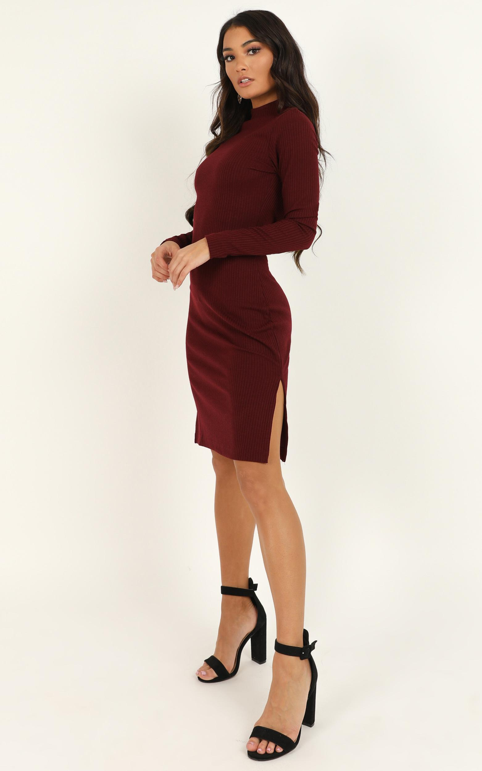 Bring It On Dress in wine- 20 (XXXXL), Wine, hi-res image number null