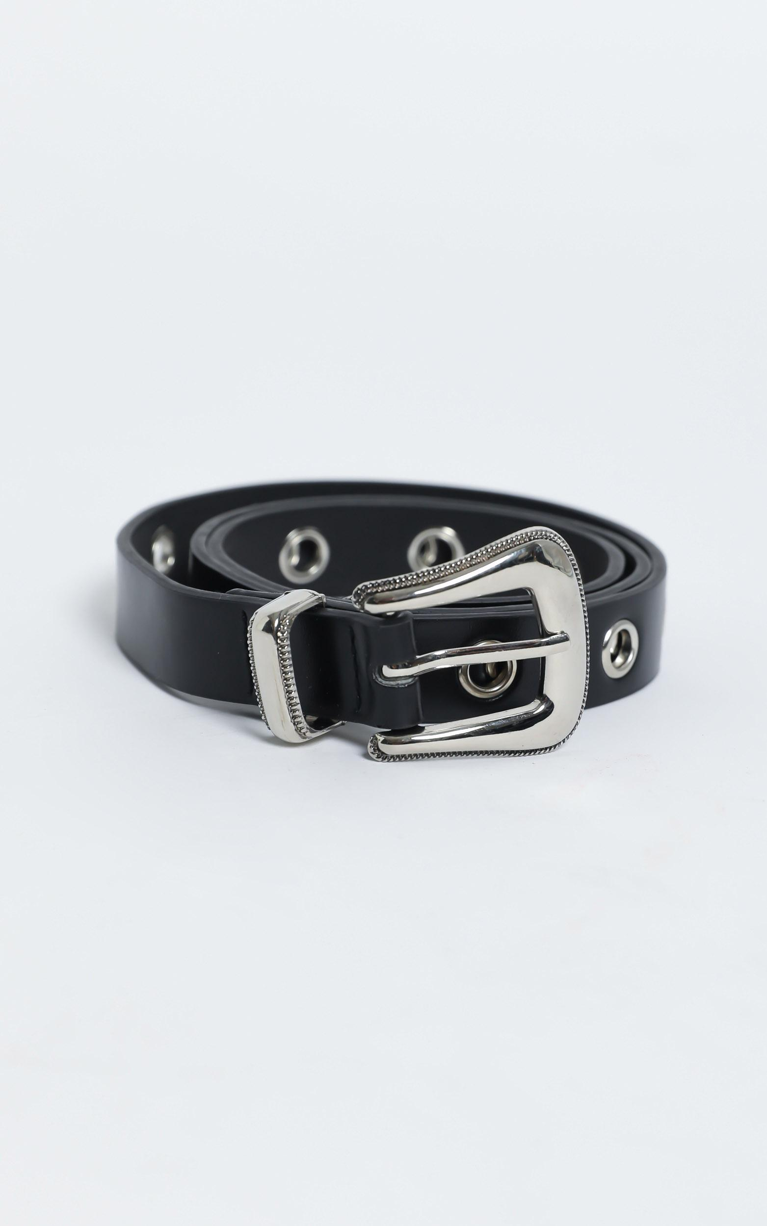 That 90's Feel Belt in Black and Silver, , hi-res image number null