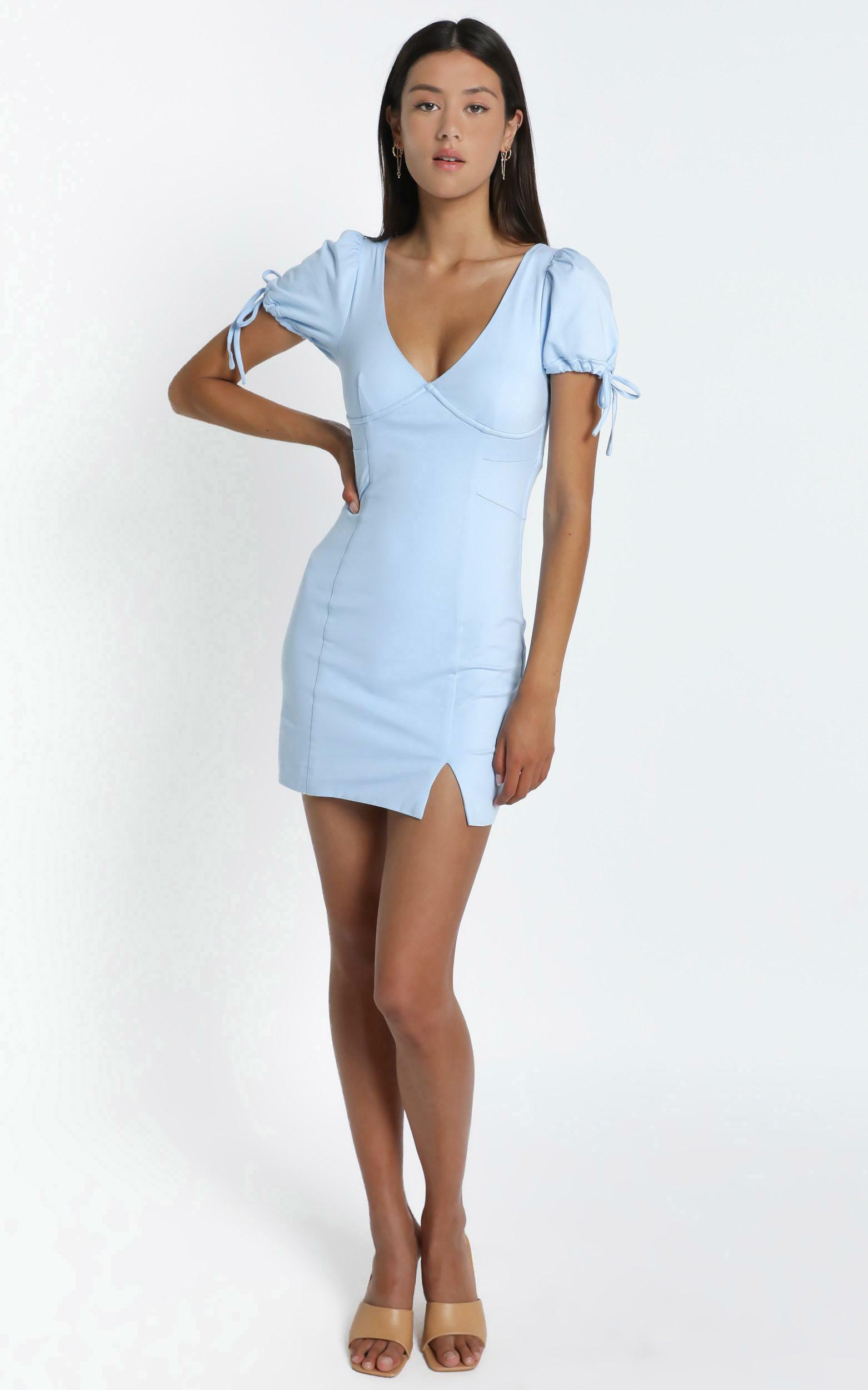 Honey Dress in Powder Blue - 6 (XS), BLU17, hi-res image number null