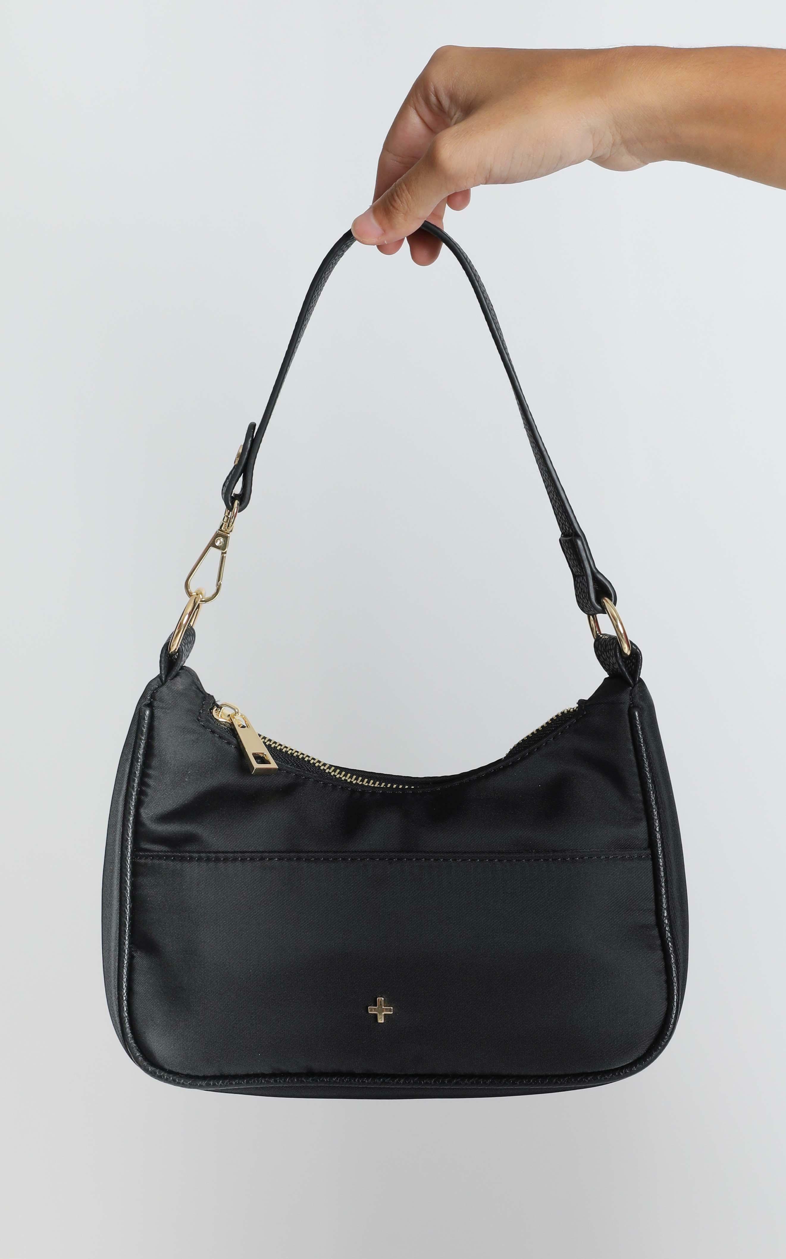 Peta and Jain - Tal Shoulder Bag In Black Nylon, BLK6, hi-res image number null