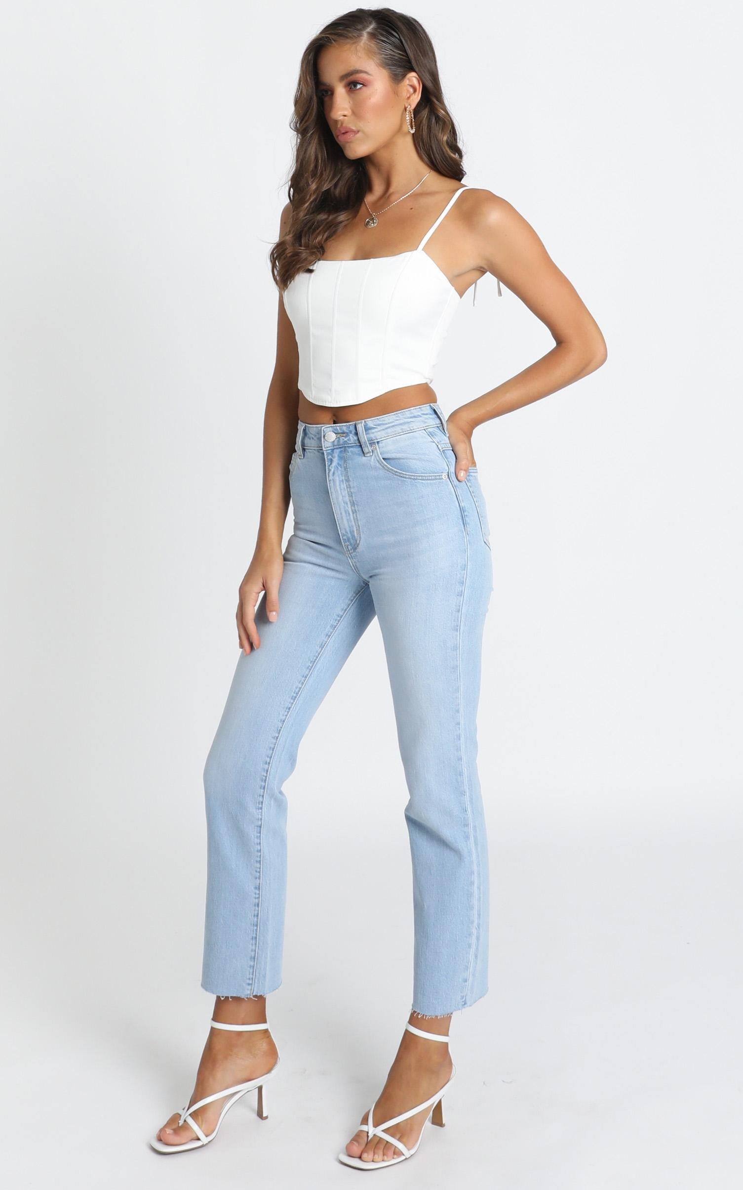 Rollas - Original Straight Jeans in comfort sky - 14 (XL), Blue, hi-res image number null