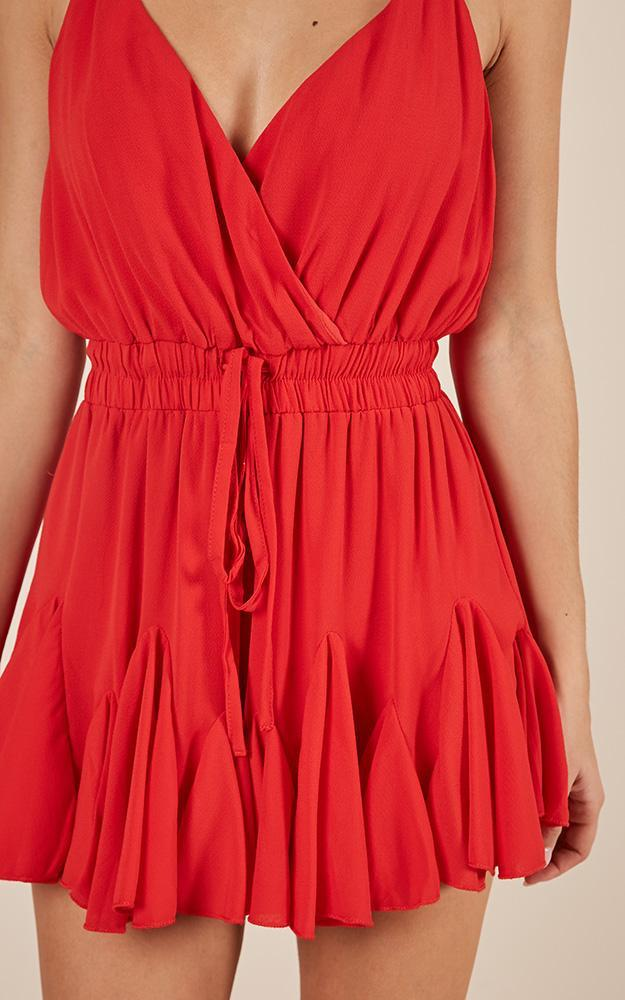 Drift Through playsuit in red - 12 (L), Red, hi-res image number null