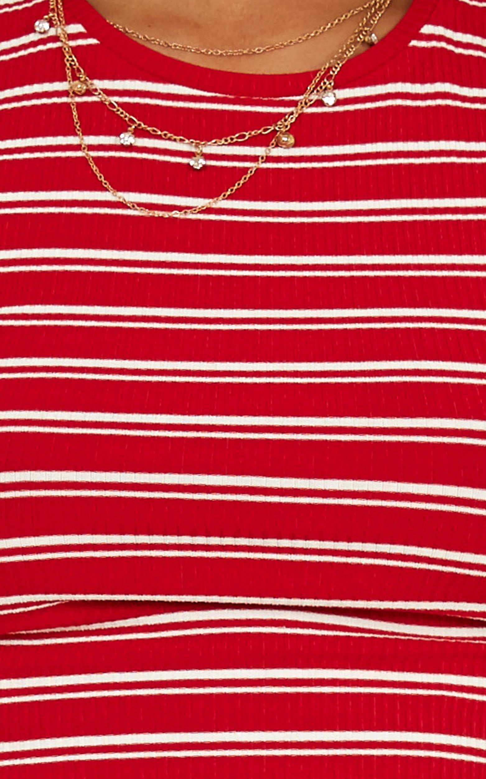 Lala Top In red stripe - 16 (XXL), Red, hi-res image number null