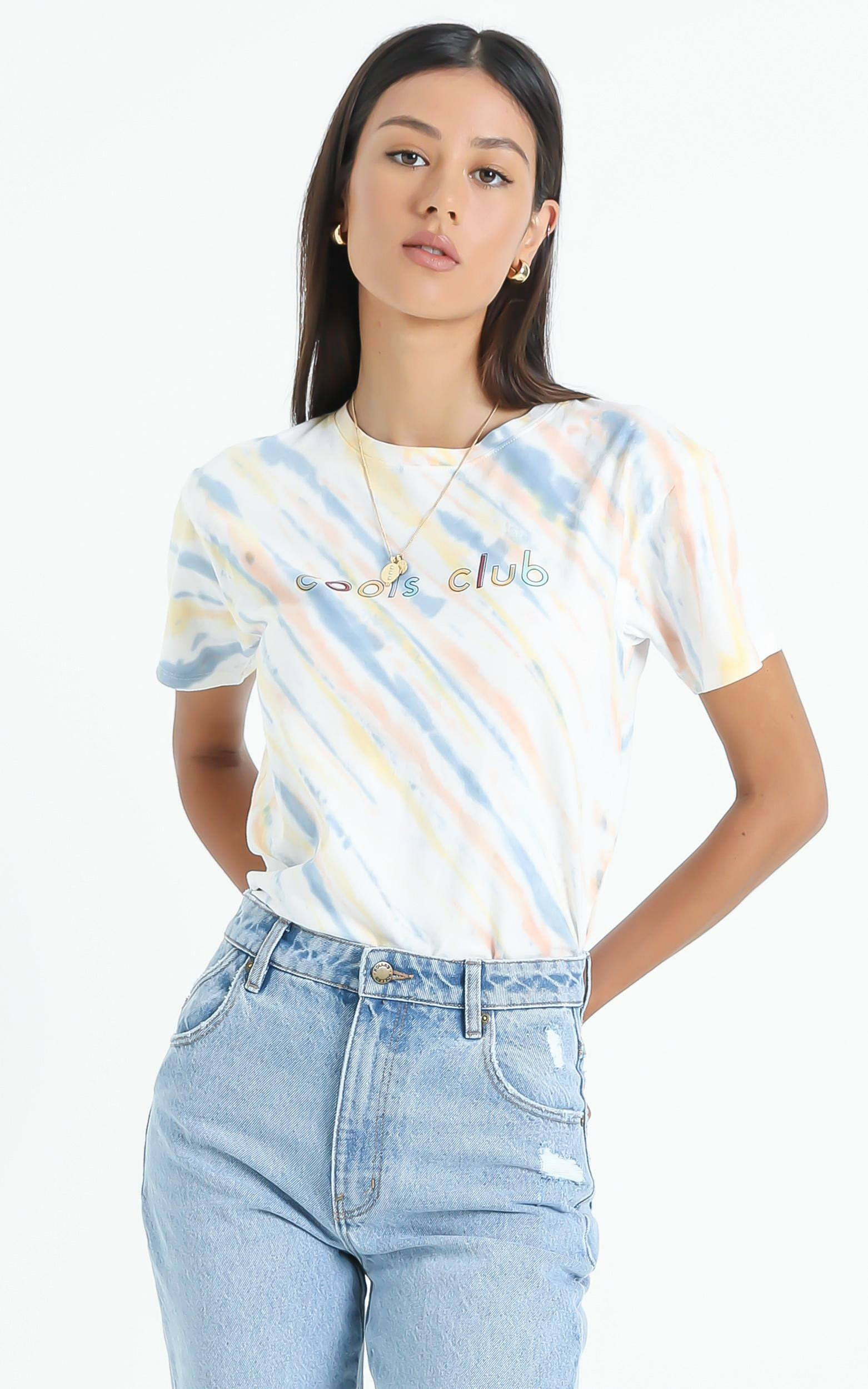 Cools Club - Sunday Tee in Faded Tie Dye - 6 (XS), Multi, hi-res image number null