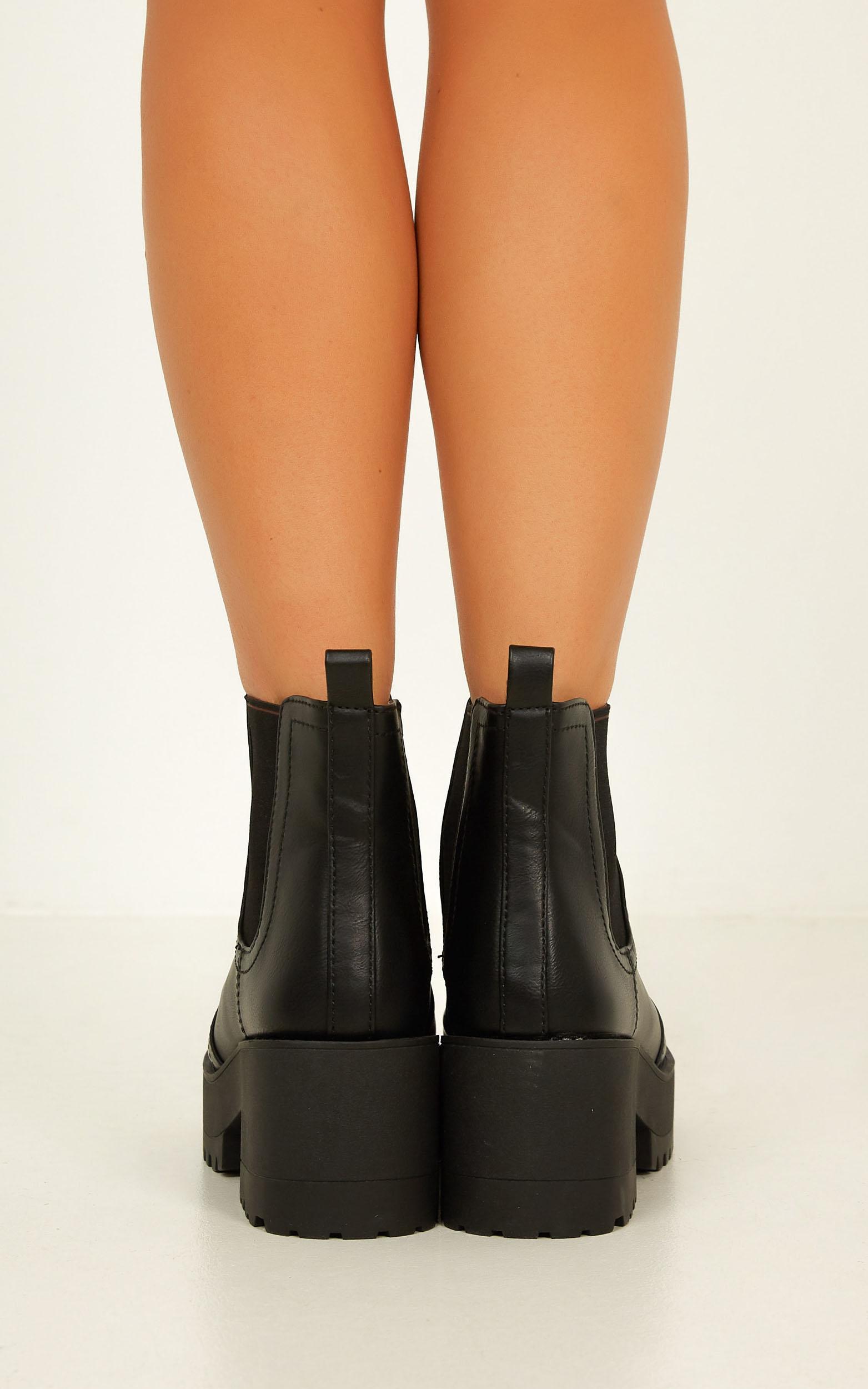 Lipstik - Eamon Boots in Black - 5, Black, hi-res image number null