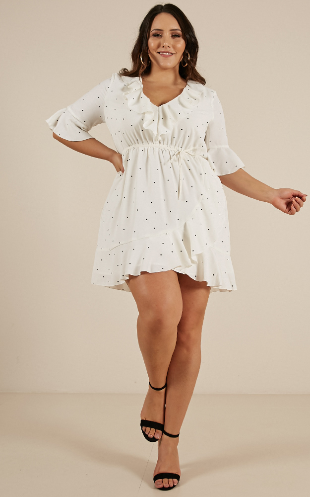 Everything for Love Dress in white spot - 20 (XXXXL), White, hi-res image number null