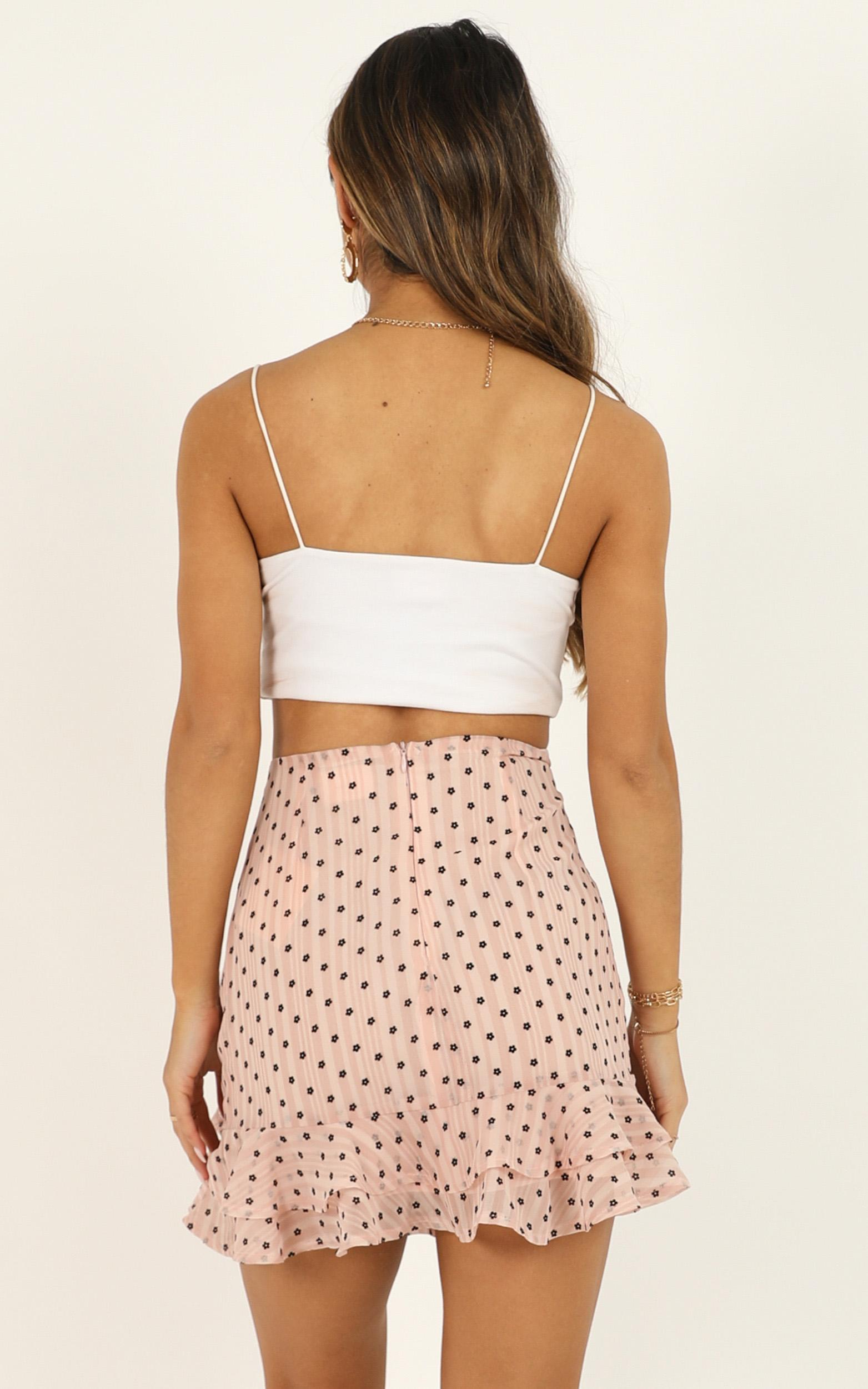When You Kiss Me Skirt In blush floral - 20 (XXXXL), Blush, hi-res image number null