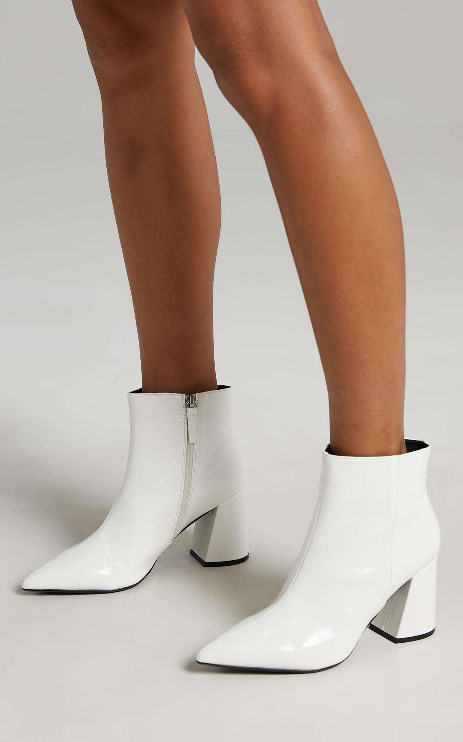 Therapy - Cleo Boots in White Crinkle Patent - 5, WHT3, hi-res image number null