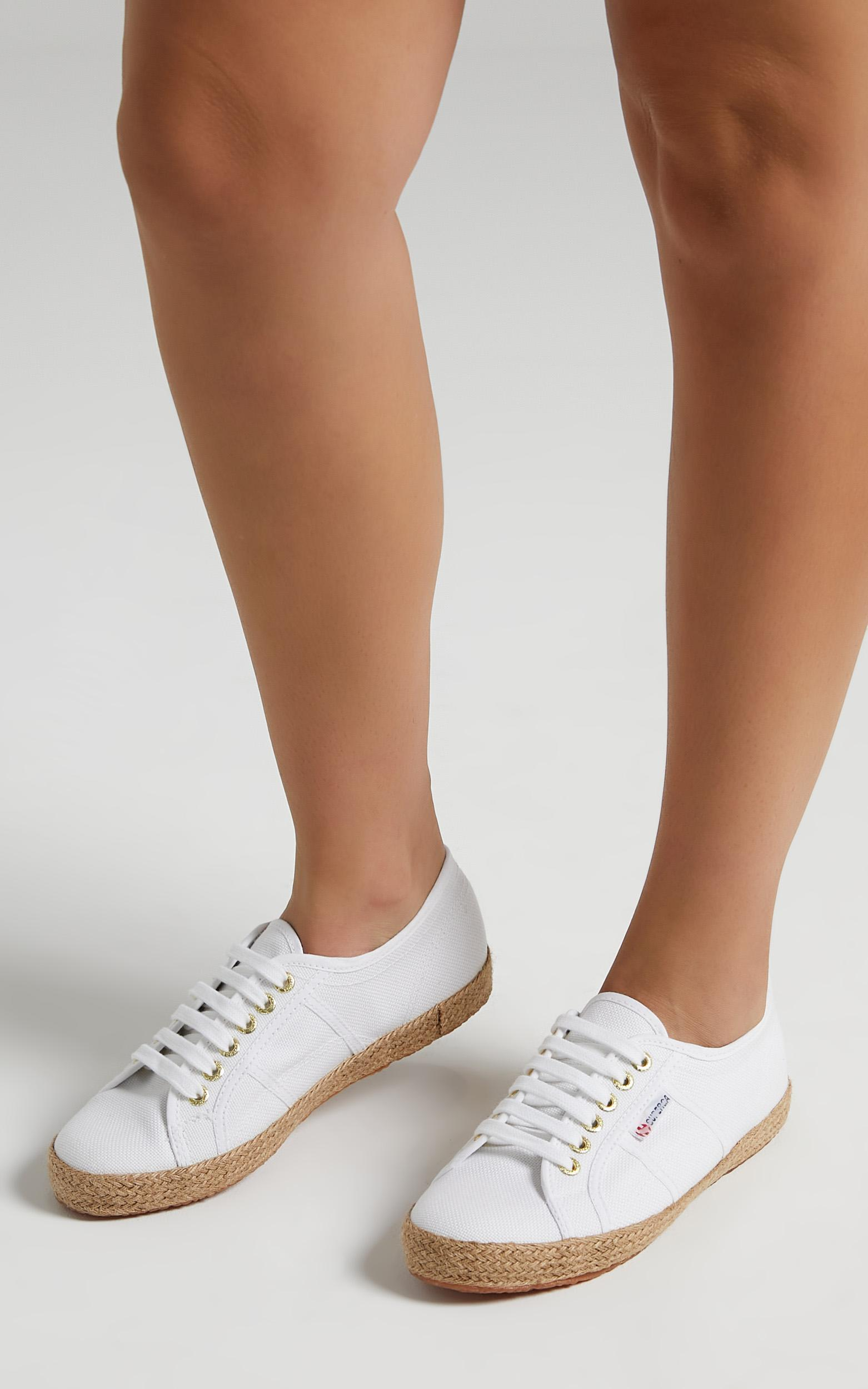 Superga - 2750 Cotrope Sneakers in White - Gold - 5, White, hi-res image number null