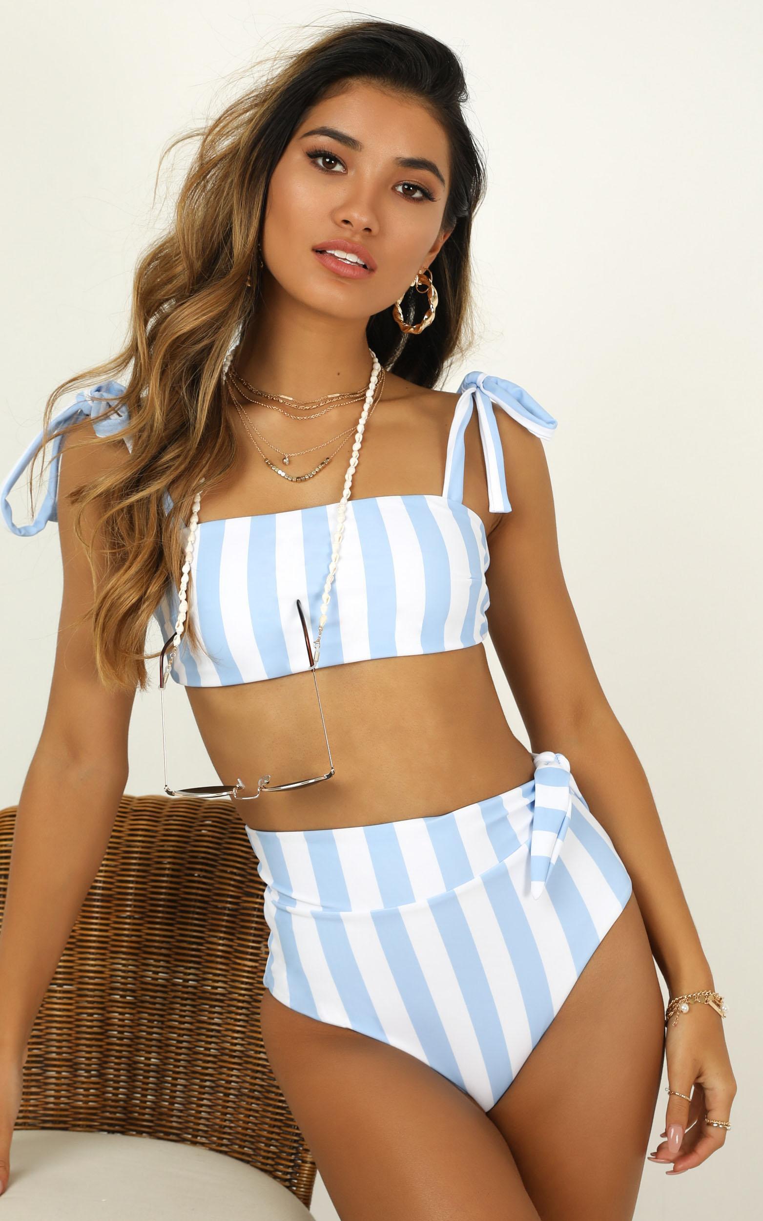 Paityn bikini top in  blue stripe - 20 (XXXXL), Blue, hi-res image number null