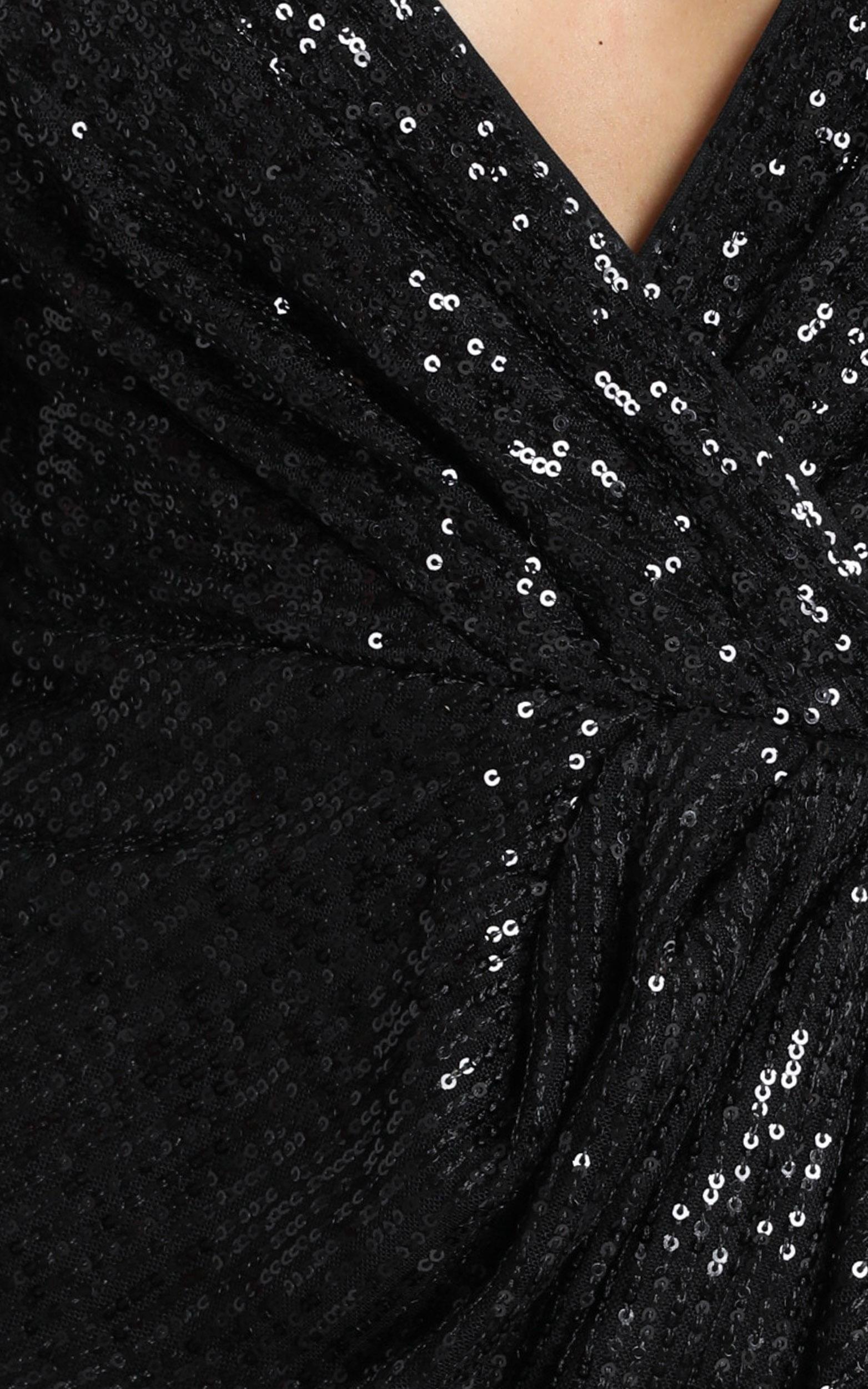 Lucie Dress in black sequin - 12 (L), Black, hi-res image number null