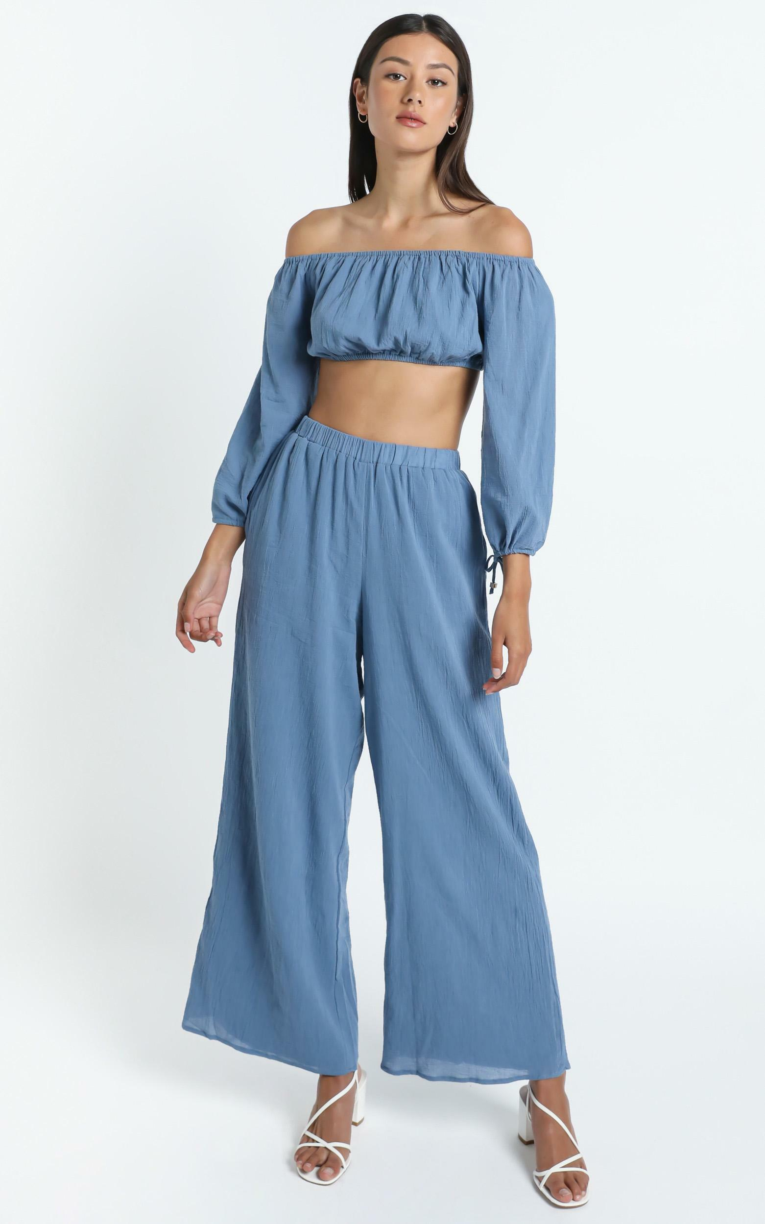Citra Two Piece Set in Blue - 14 (XL), Green, hi-res image number null