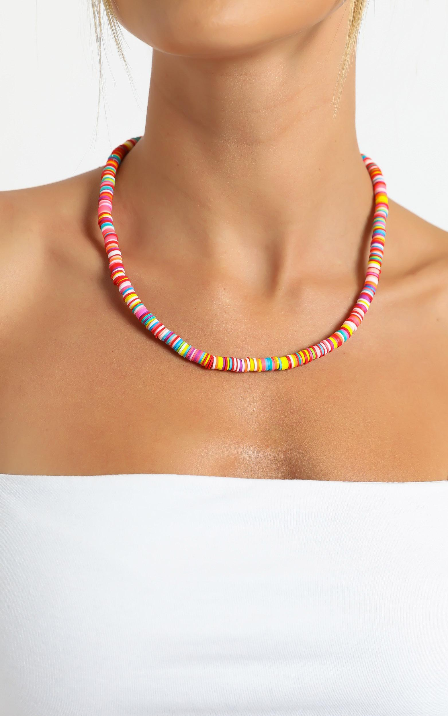Beaded Necklace in Multi, , hi-res image number null