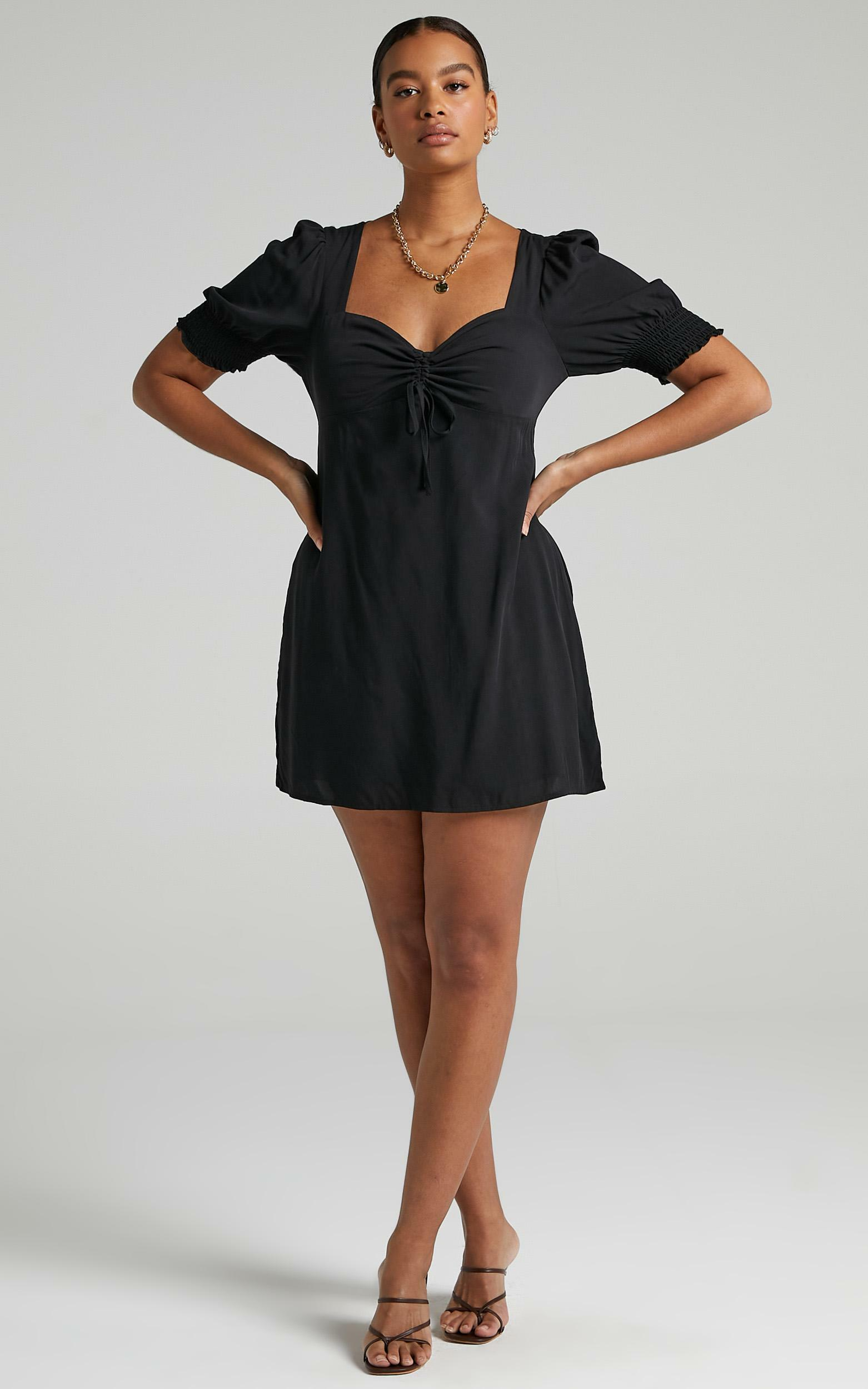 Titania Dress in Black Rayon - 04, BLK1, hi-res image number null