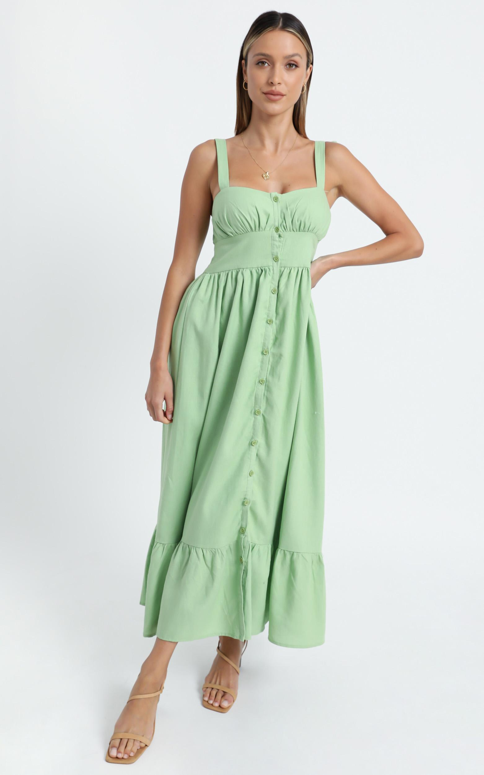 Marvina Dress in Green - 6 (XS), Green, hi-res image number null