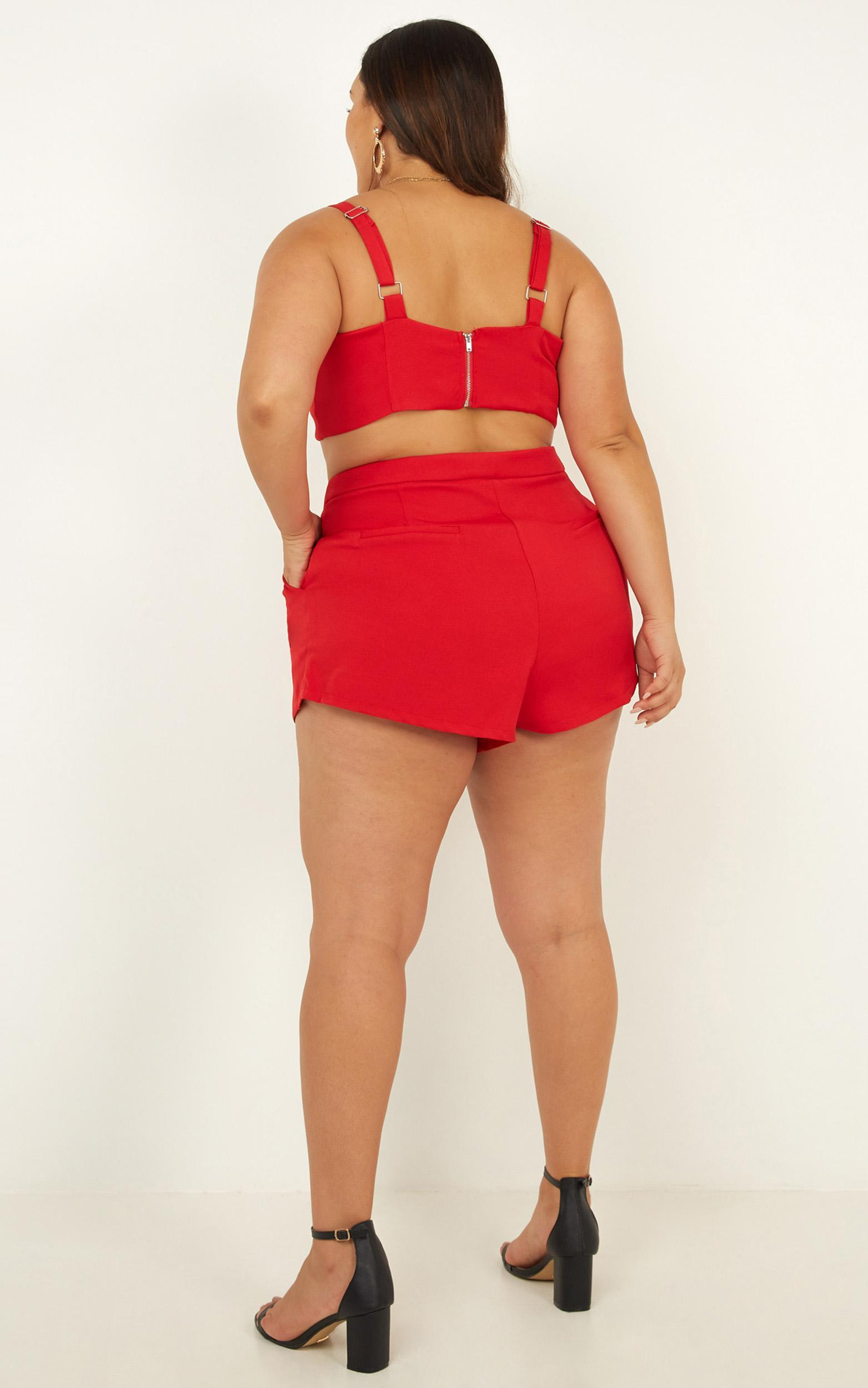 Forgot Me Two Piece Set In red - 20 (XXXXL), Red, hi-res image number null