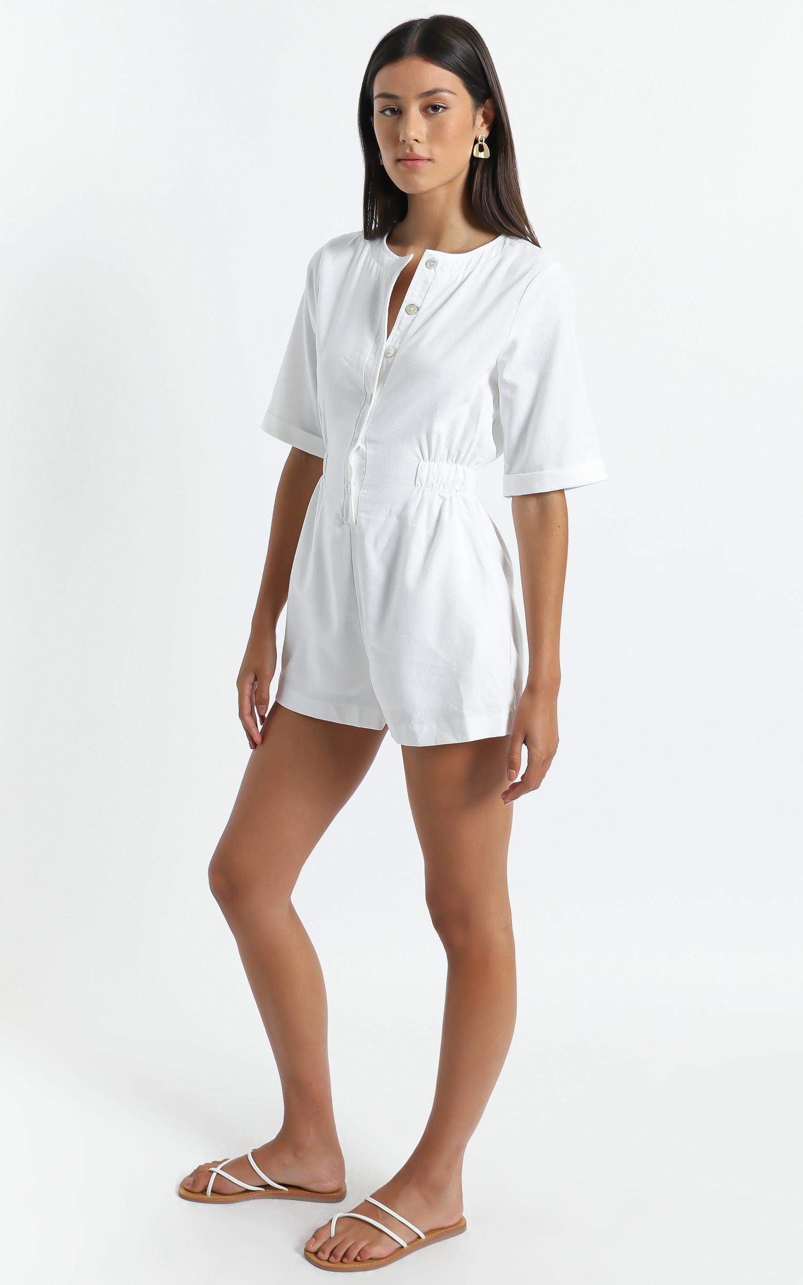 Melisende Playsuit in White - 6 (XS), White, hi-res image number null