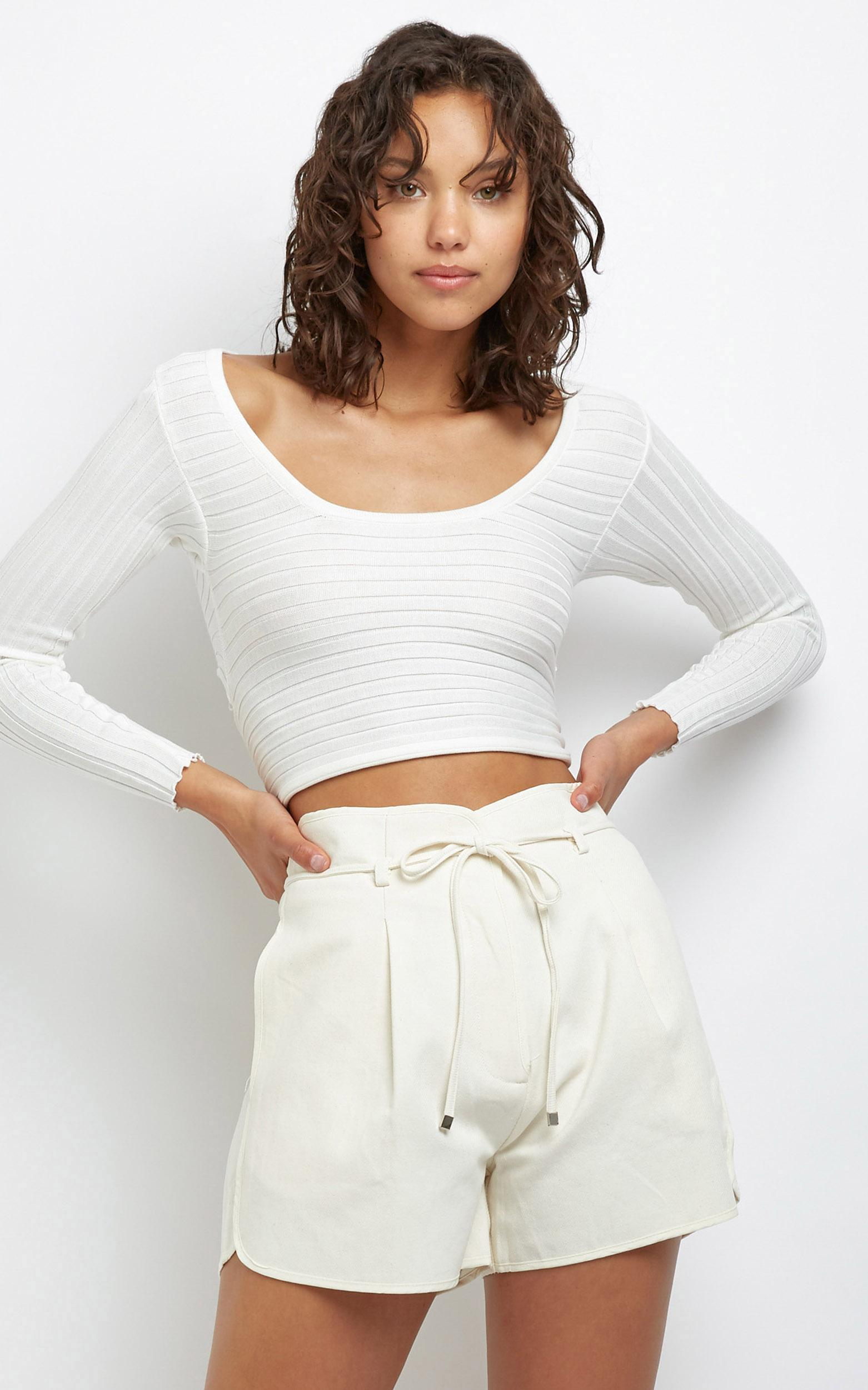 Vida Shorts in Off White - M/L, White, hi-res image number null